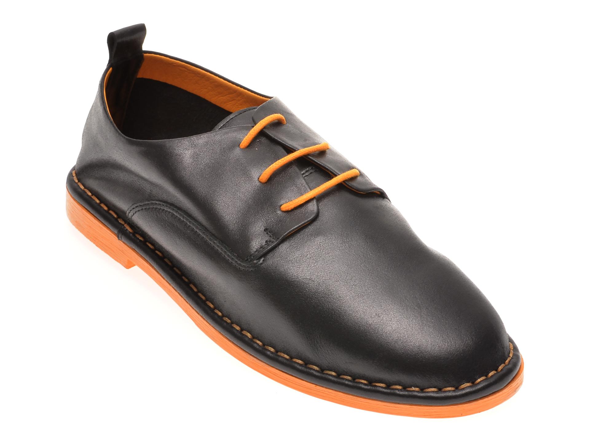 Pantofi LE BERDE negri, 76200M5, din piele naturala imagine