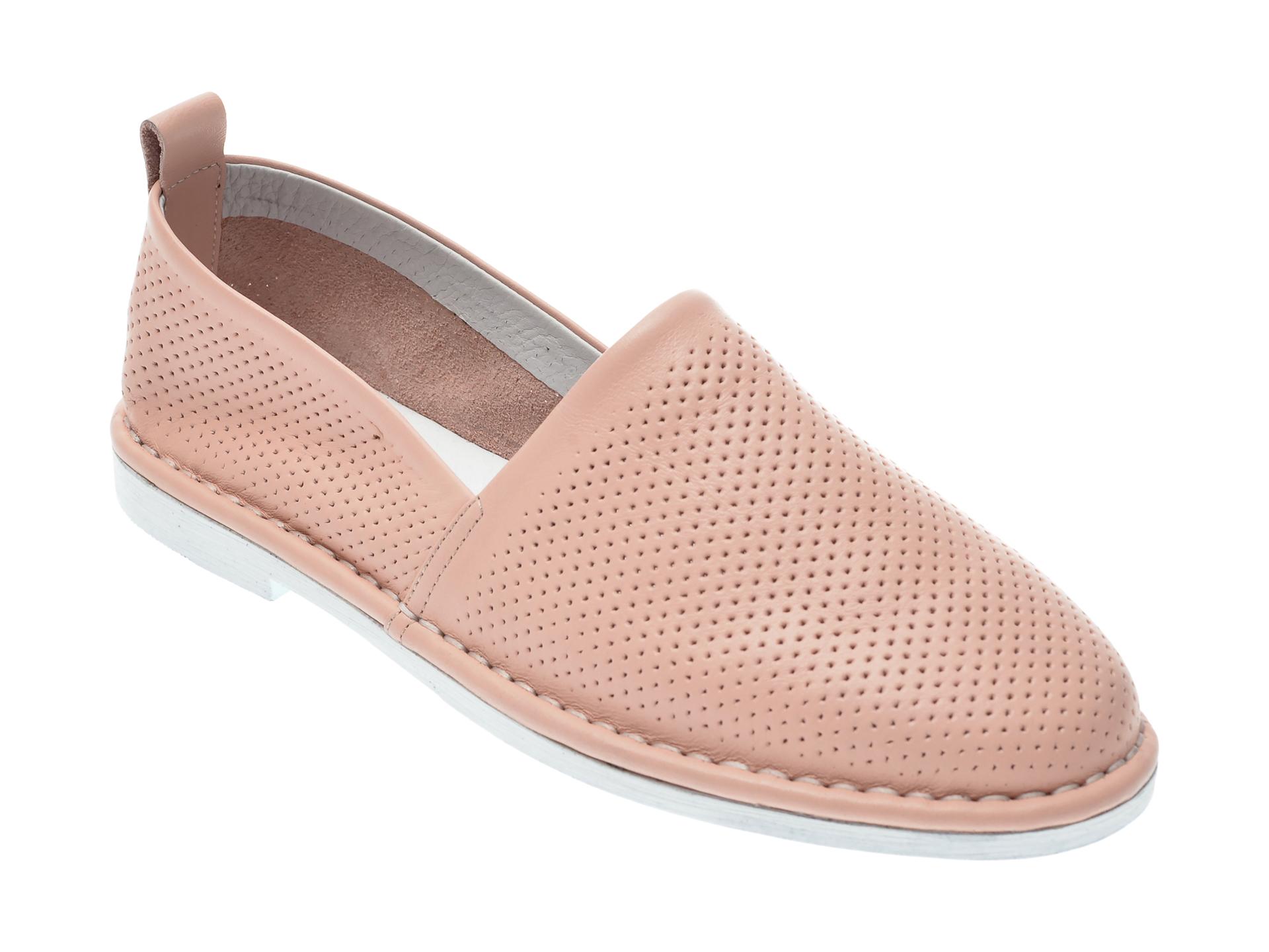 Pantofi LE BERDE nude, 4, din piele naturala imagine otter.ro 2021