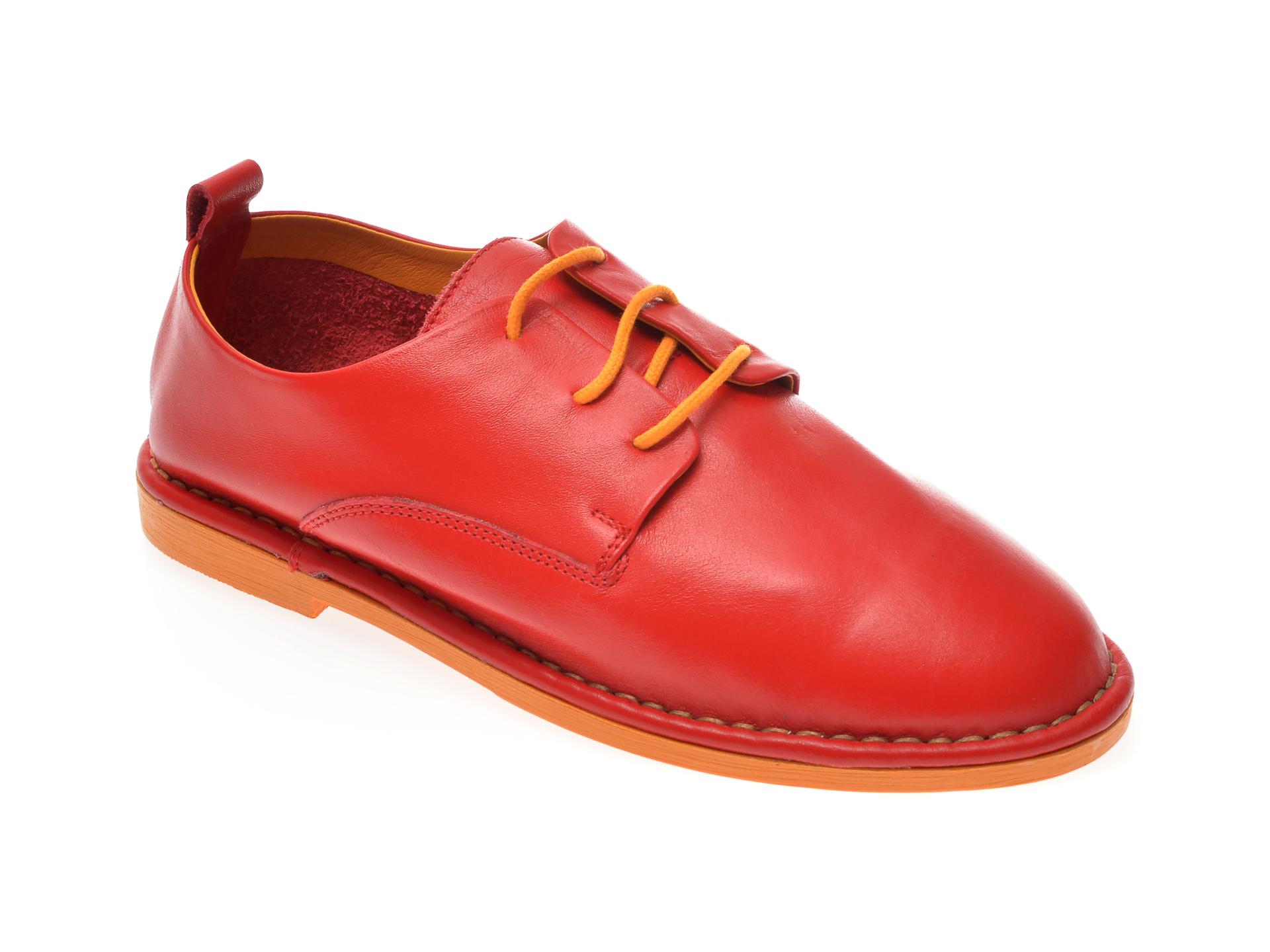 Pantofi LE BERDE rosii, 14, din piele naturala New