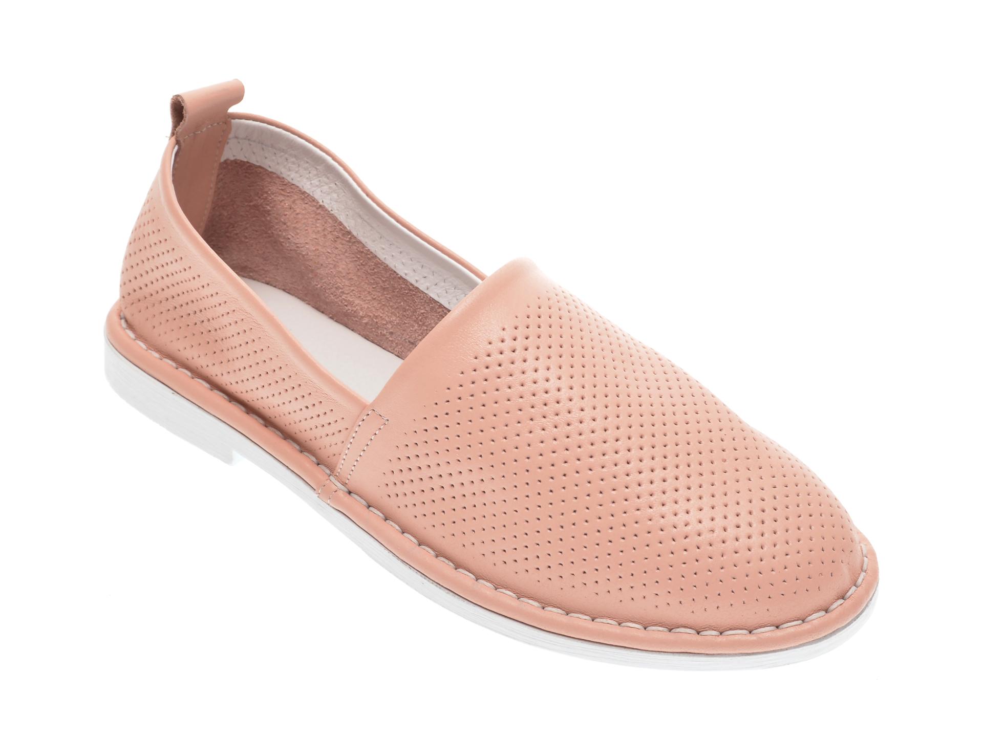 Pantofi LE BERDE roz, 76100M5, din piele naturala
