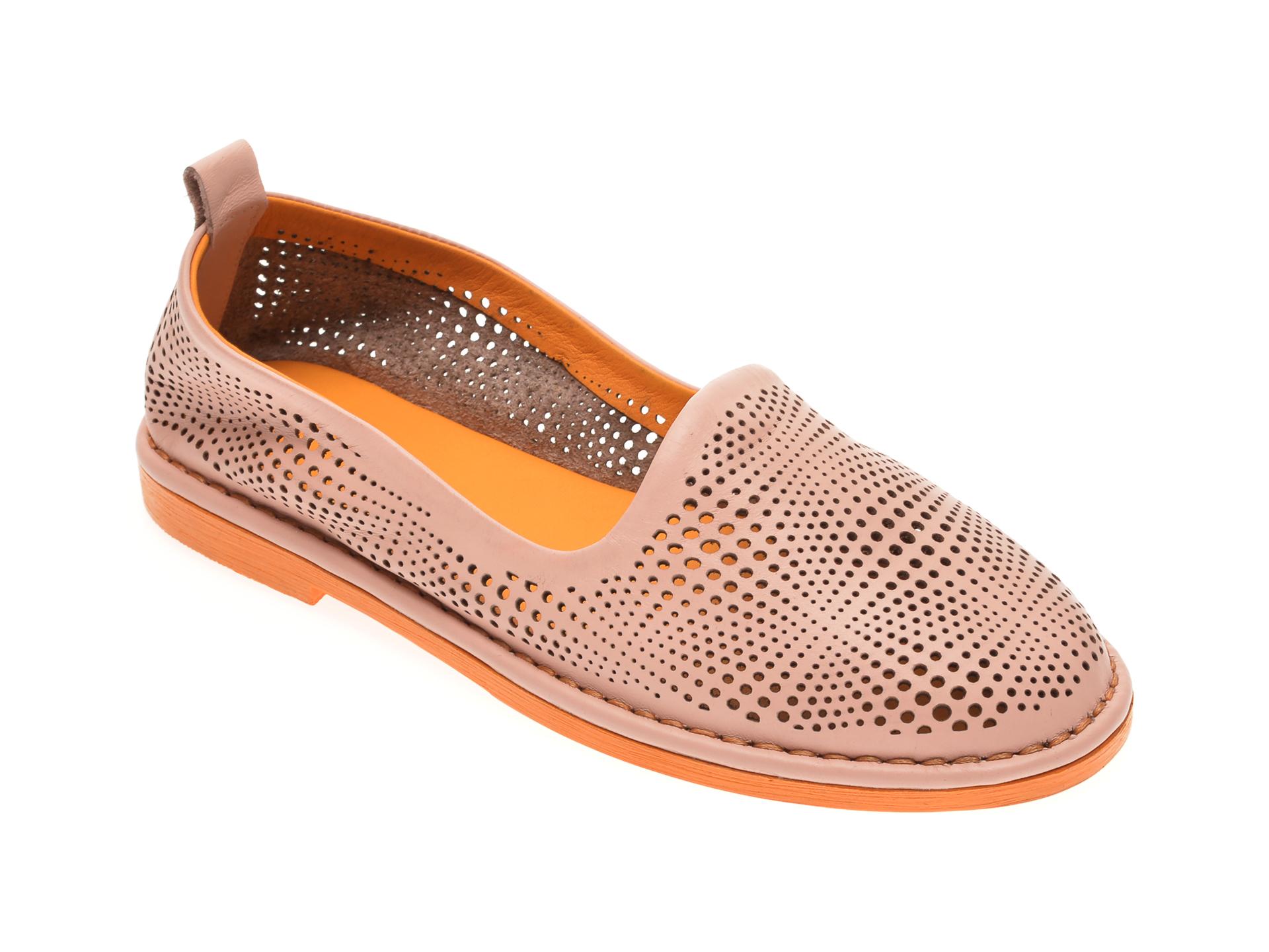 Pantofi LE BERDE roz, 76600M5, din piele naturala imagine