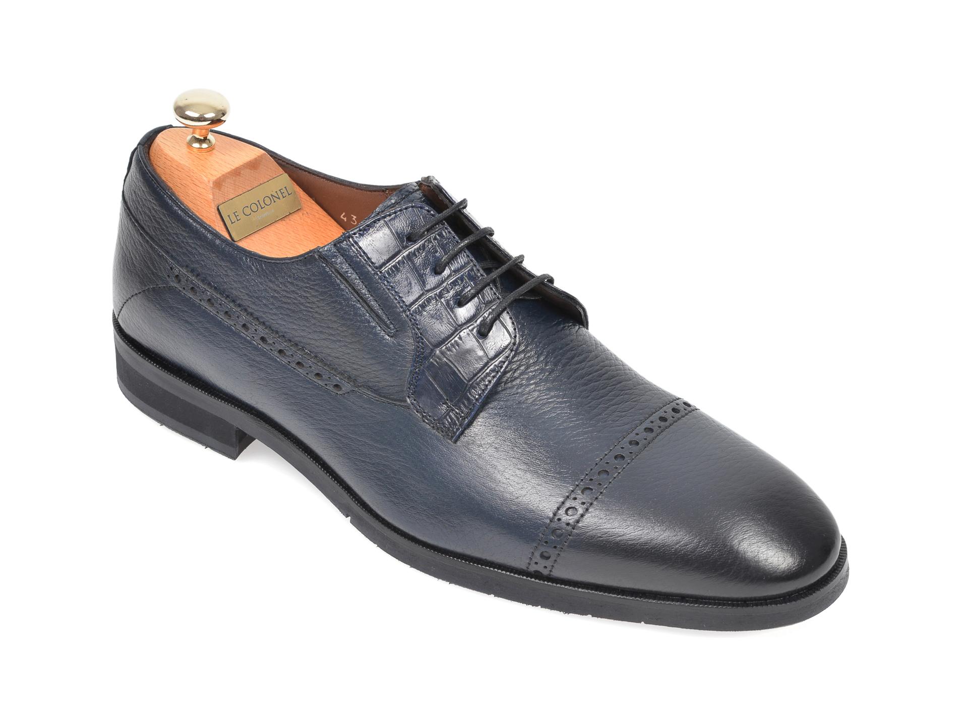 Pantofi LE COLONEL bleumarin, 48731, din piele naturala imagine