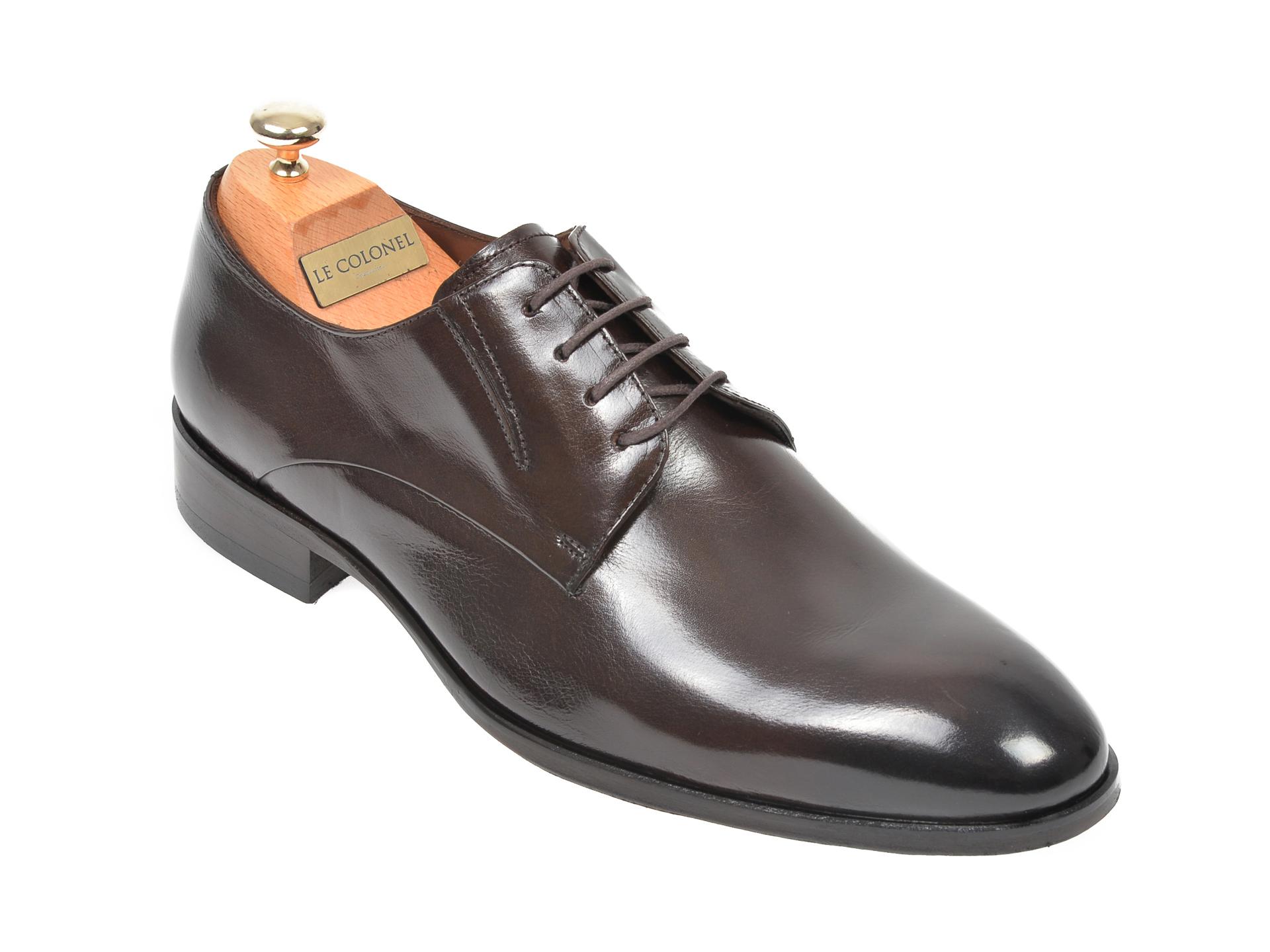 Pantofi LE COLONEL maro, 327104, din piele naturala imagine