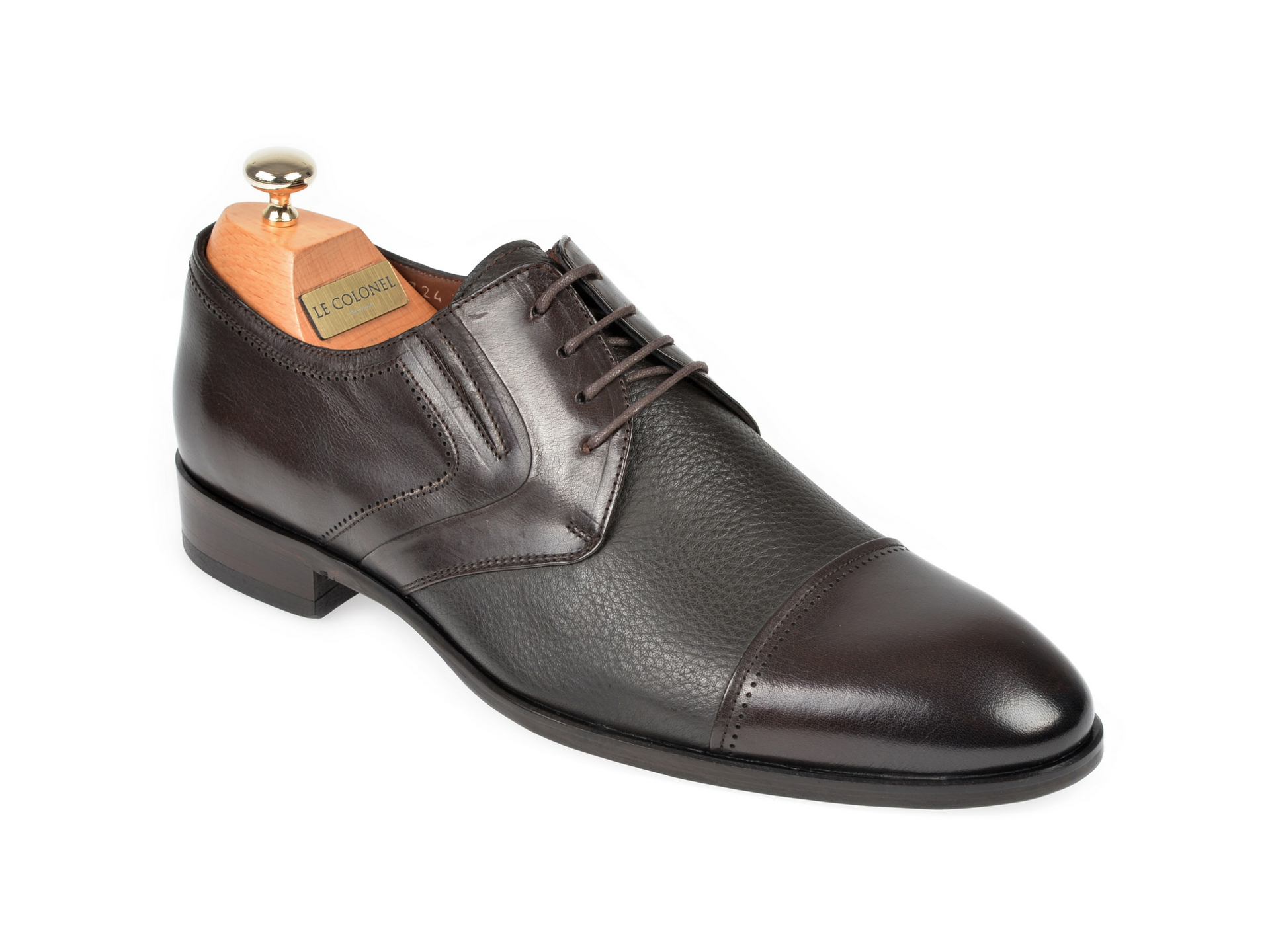 Pantofi LE COLONEL maro, 32724, din piele naturala imagine
