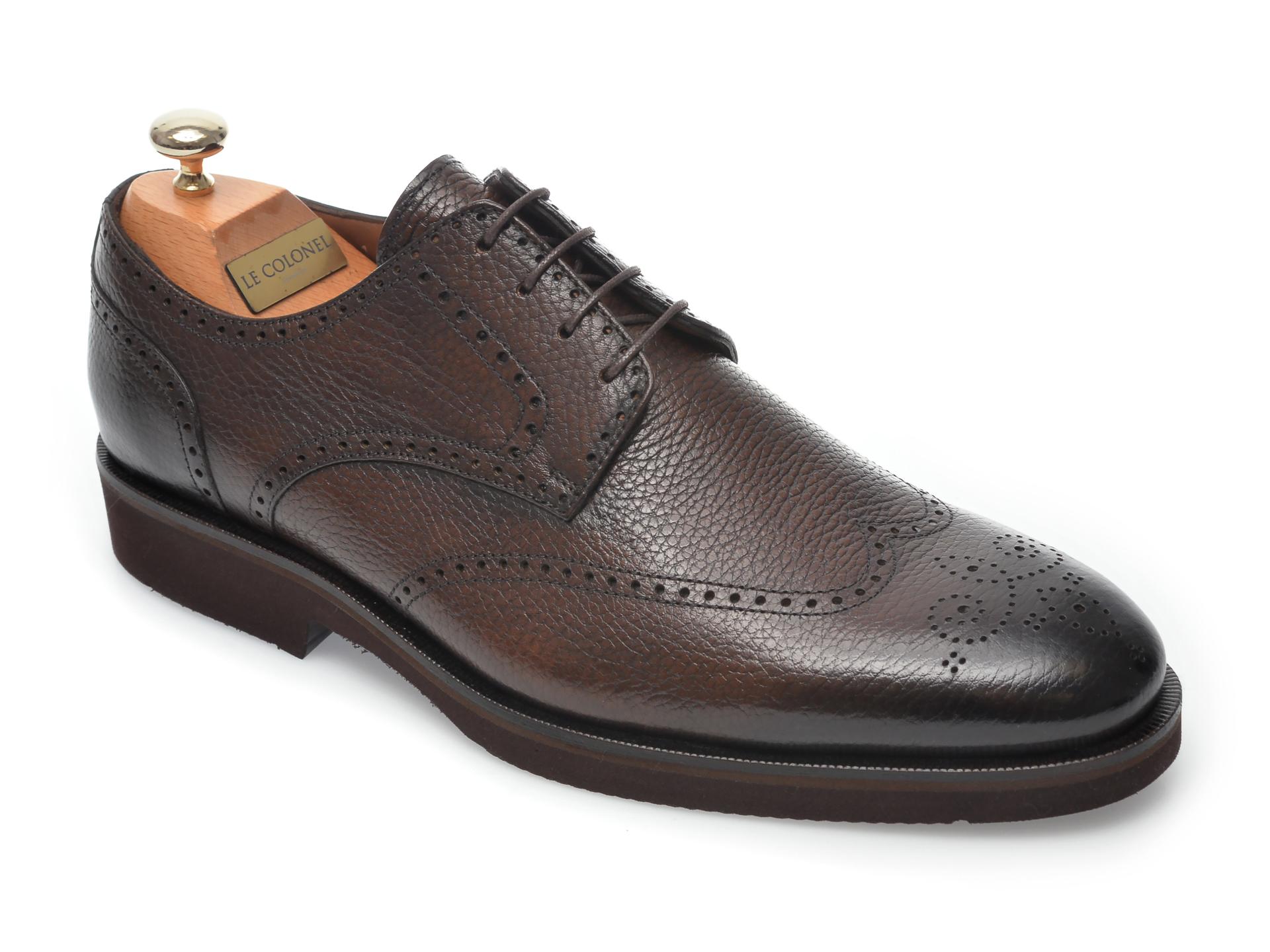 Pantofi LE COLONEL maro, 40911, din piele naturala imagine