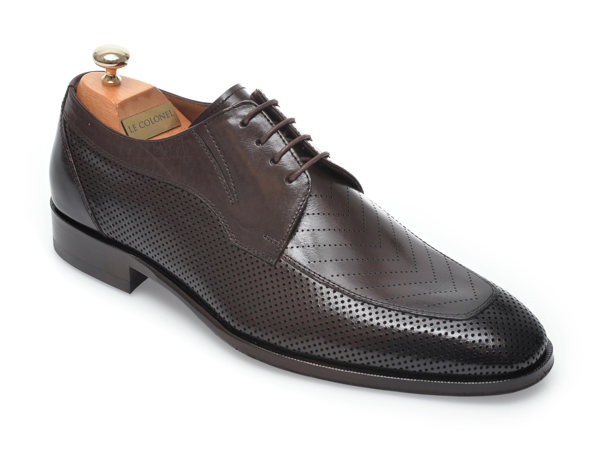 Pantofi LE COLONEL maro, 48457, din piele naturala imagine
