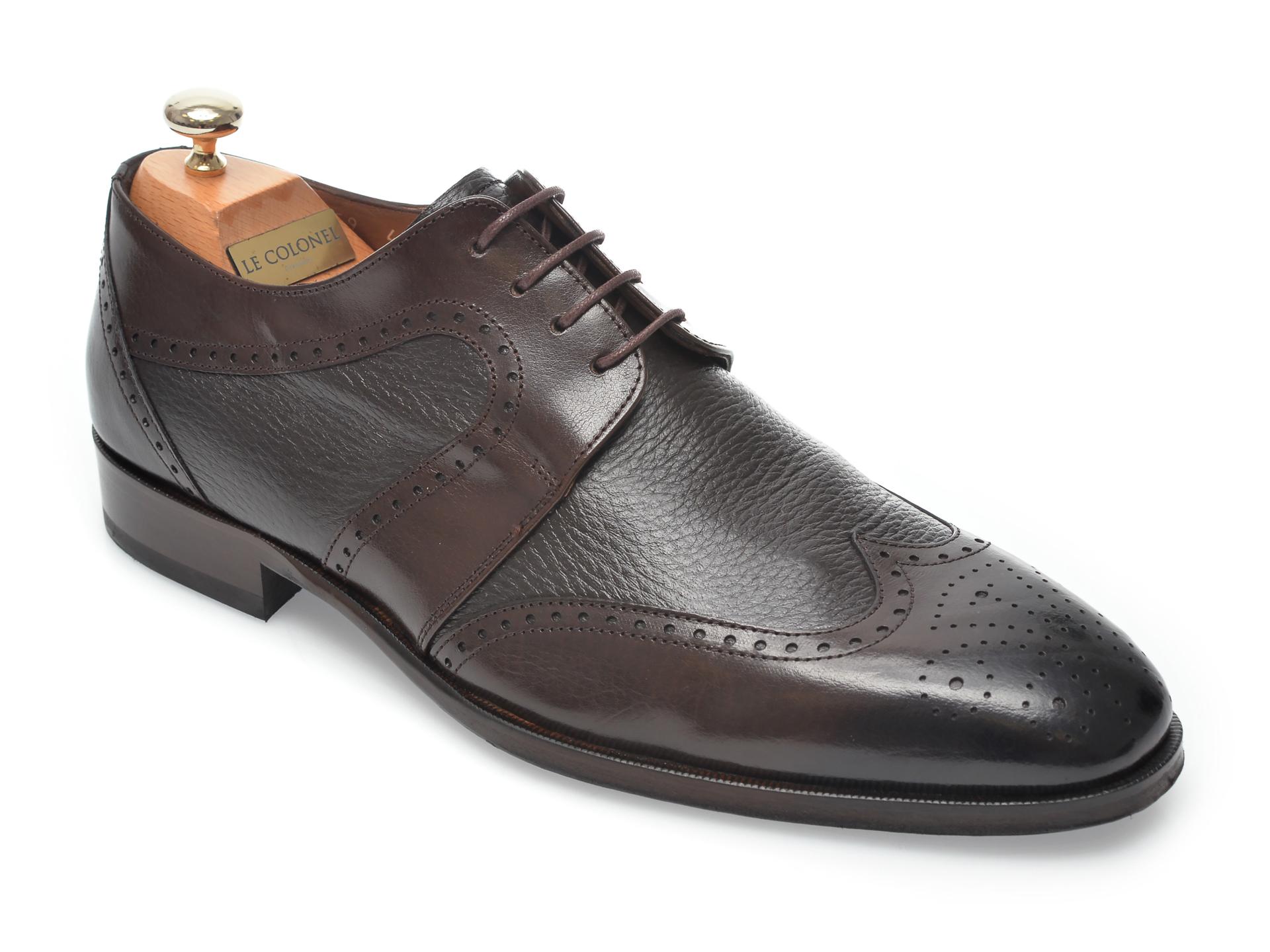 Pantofi LE COLONEL maro, 48459, din piele naturala imagine