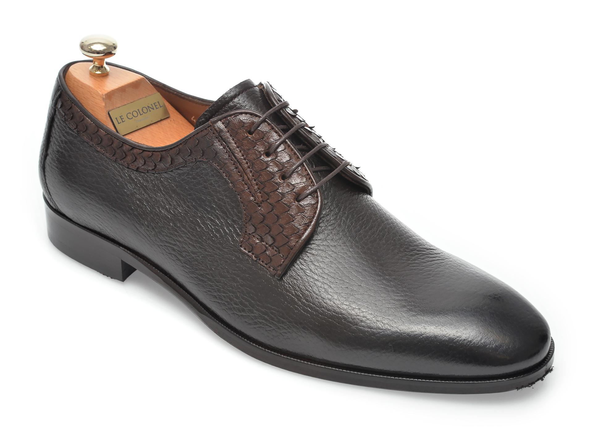Pantofi LE COLONEL maro, 48711, din piele naturala imagine otter.ro 2021