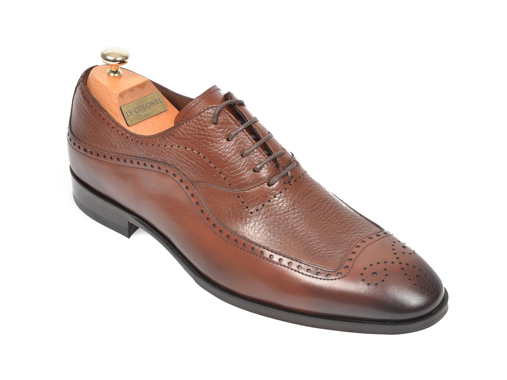 Pantofi LE COLONEL maro, 48741, din piele naturala imagine