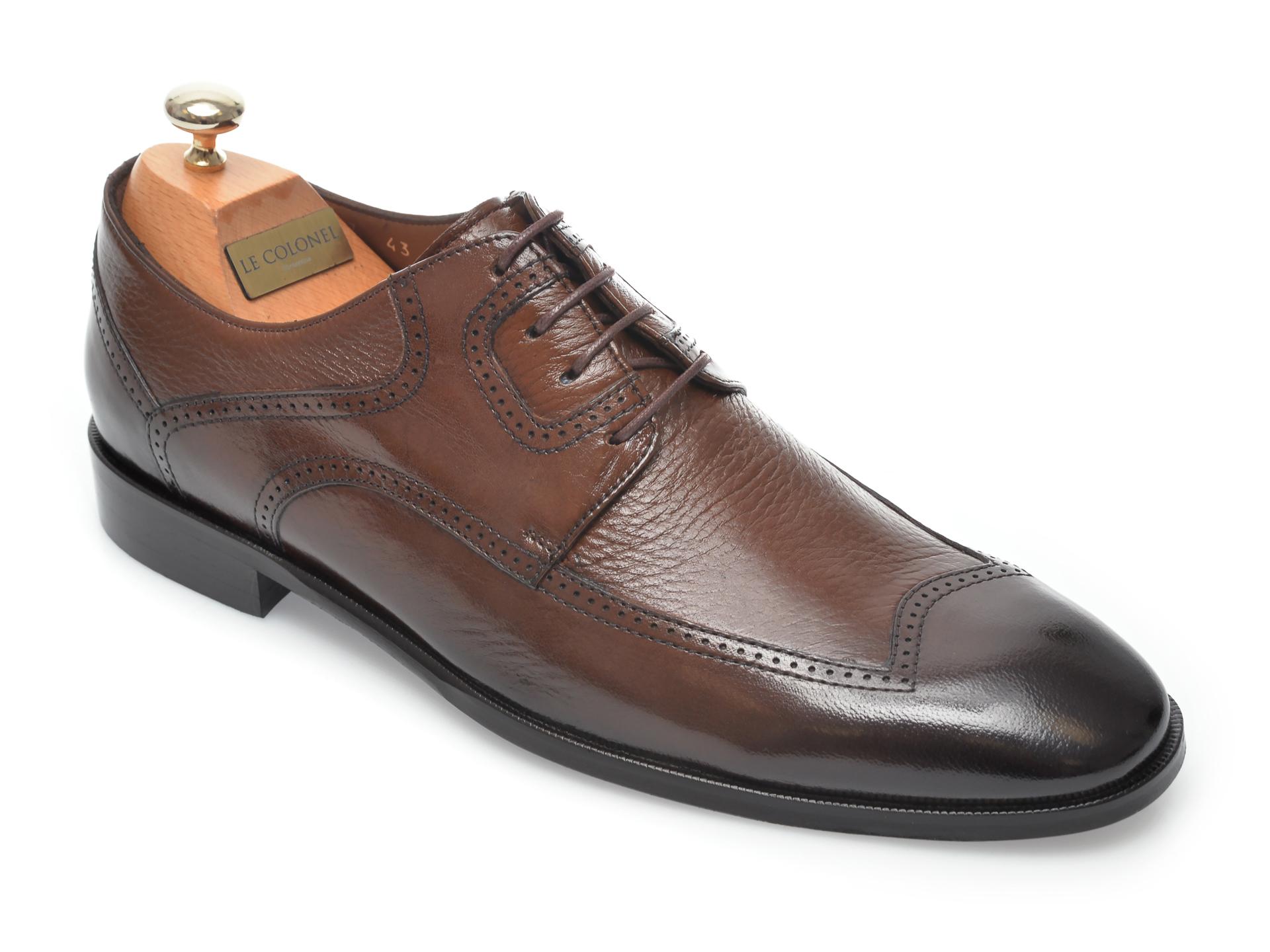 Pantofi LE COLONEL maro, 48757, din piele naturala imagine otter.ro 2021