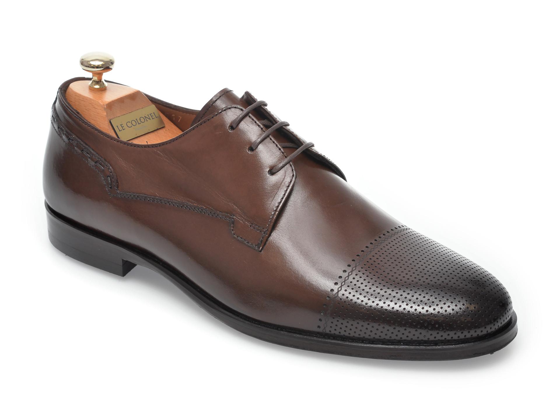 Pantofi LE COLONEL maro, 60517, din piele naturala imagine