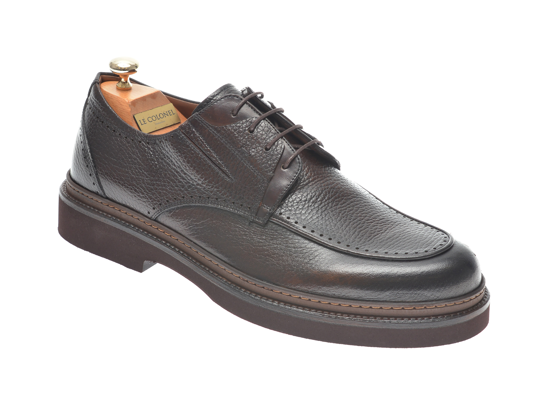 Pantofi LE COLONEL maro, 61603, din piele naturala imagine