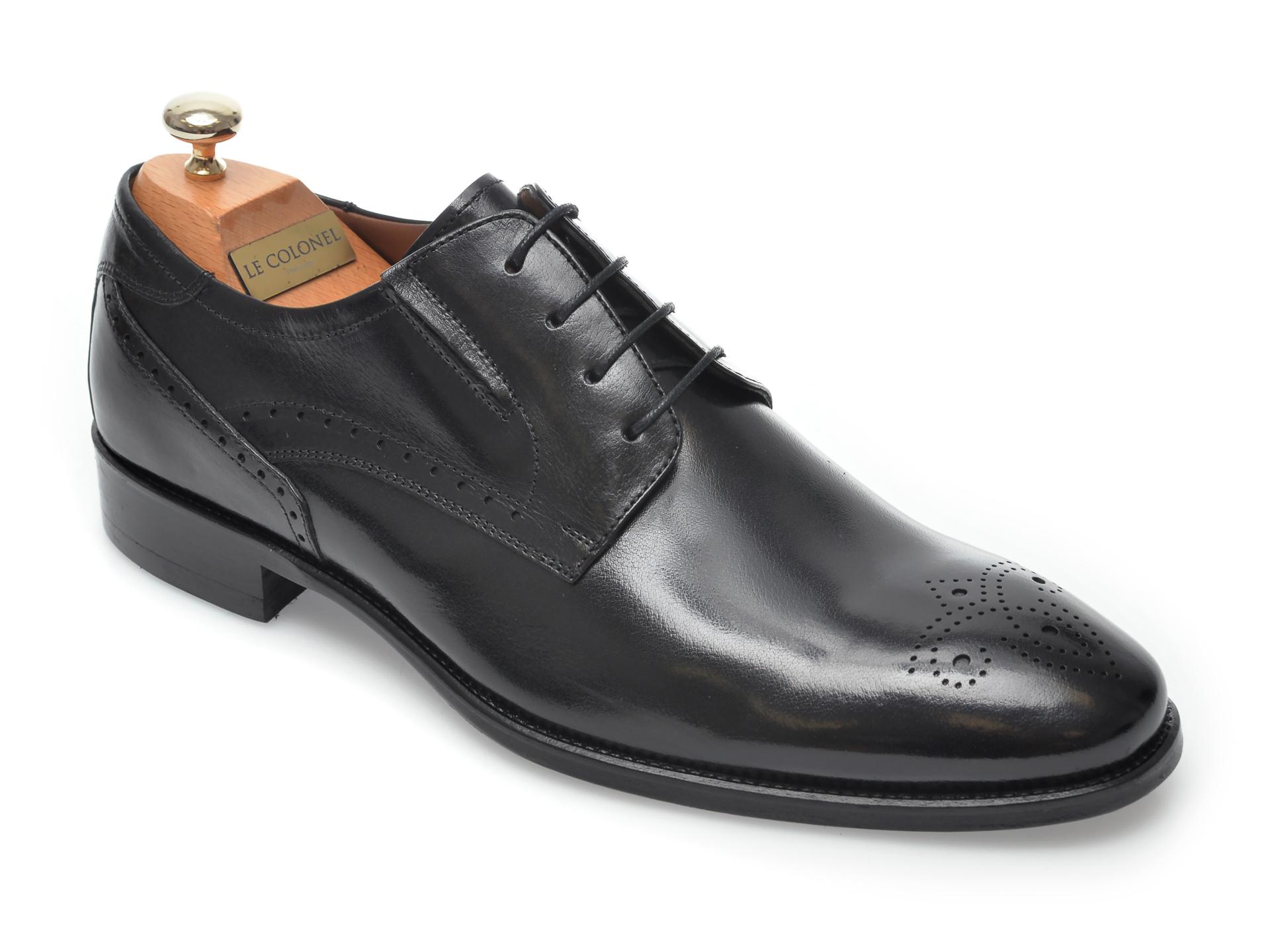 Pantofi LE COLONEL negri, 33850, din piele naturala imagine