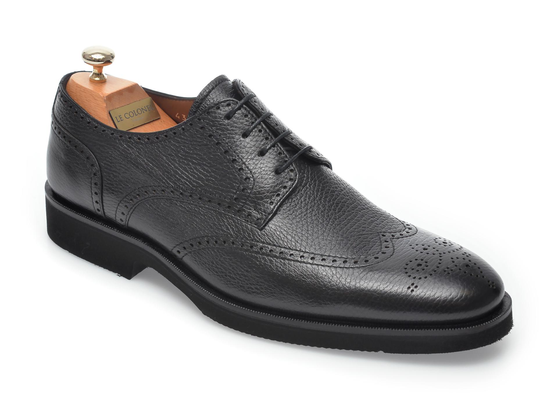 Pantofi LE COLONEL negri, 40911, din piele naturala imagine otter.ro 2021