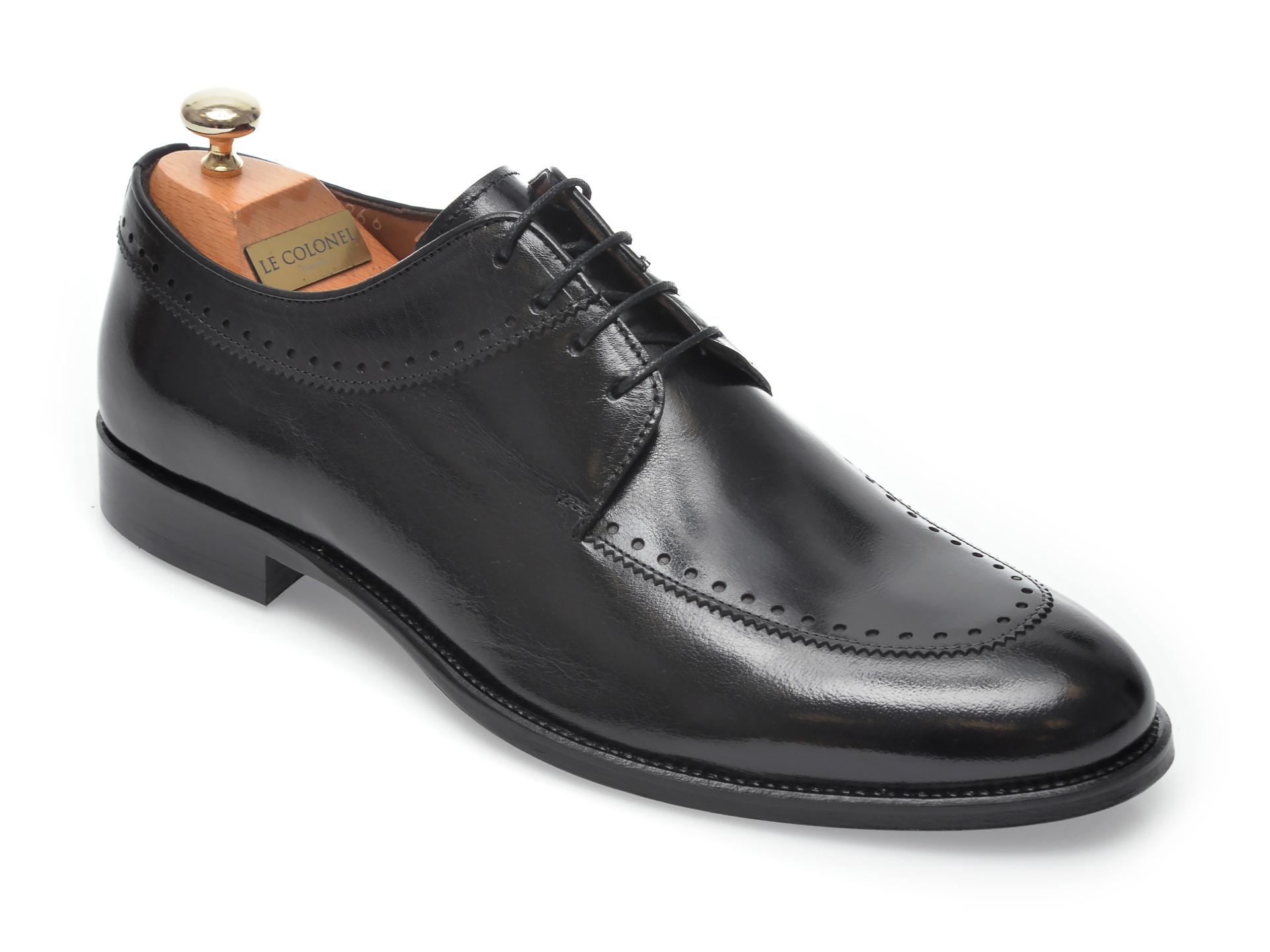 Pantofi LE COLONEL negri, 45266, din piele naturala imagine otter.ro 2021