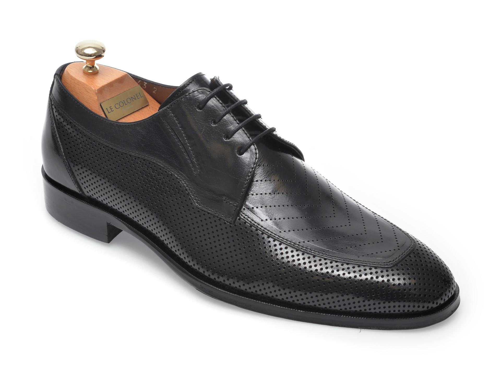 Pantofi LE COLONEL negri, 48457, din piele naturala imagine otter.ro 2021