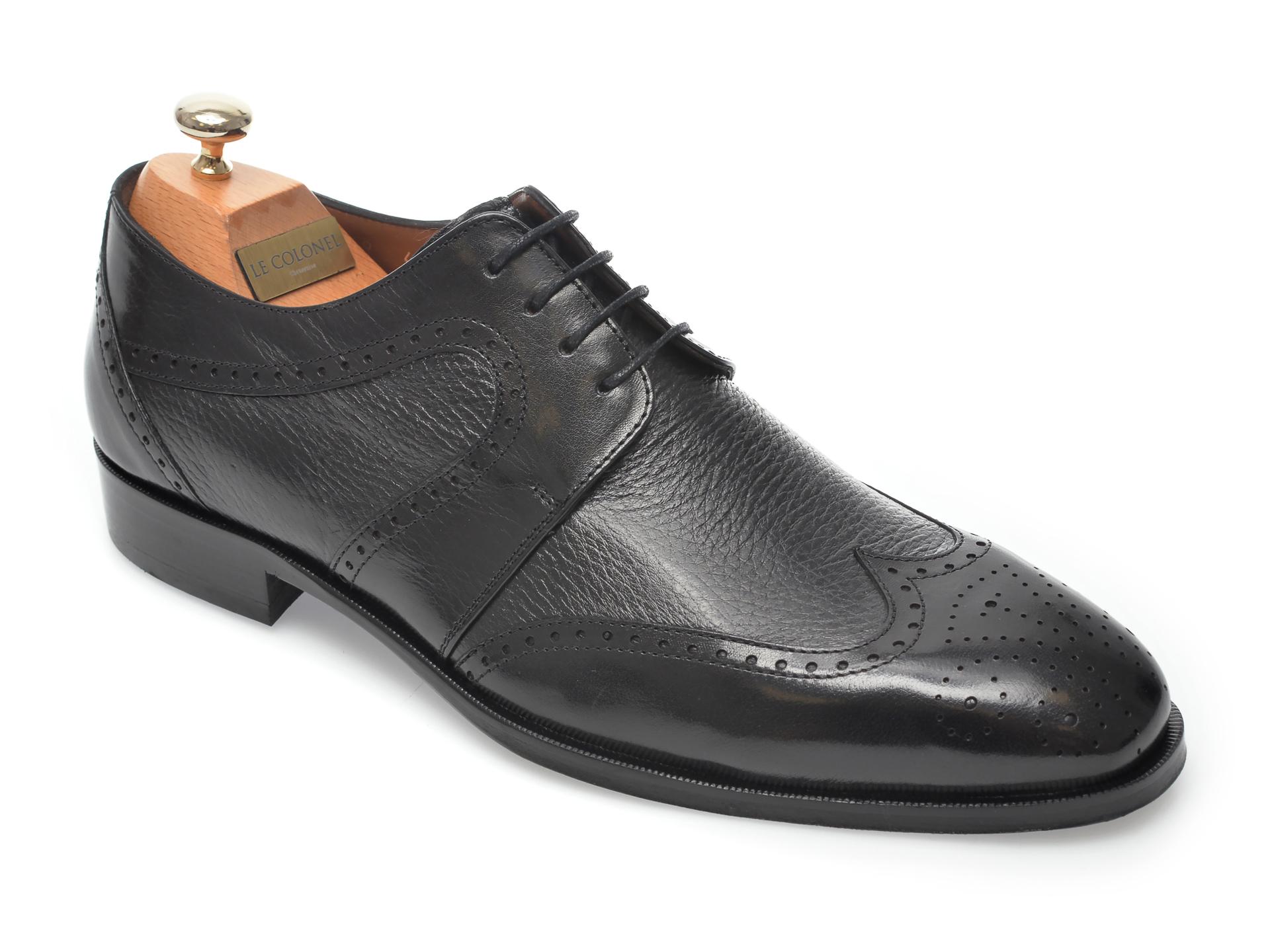 Pantofi LE COLONEL negri, 48459, din piele naturala imagine otter.ro 2021