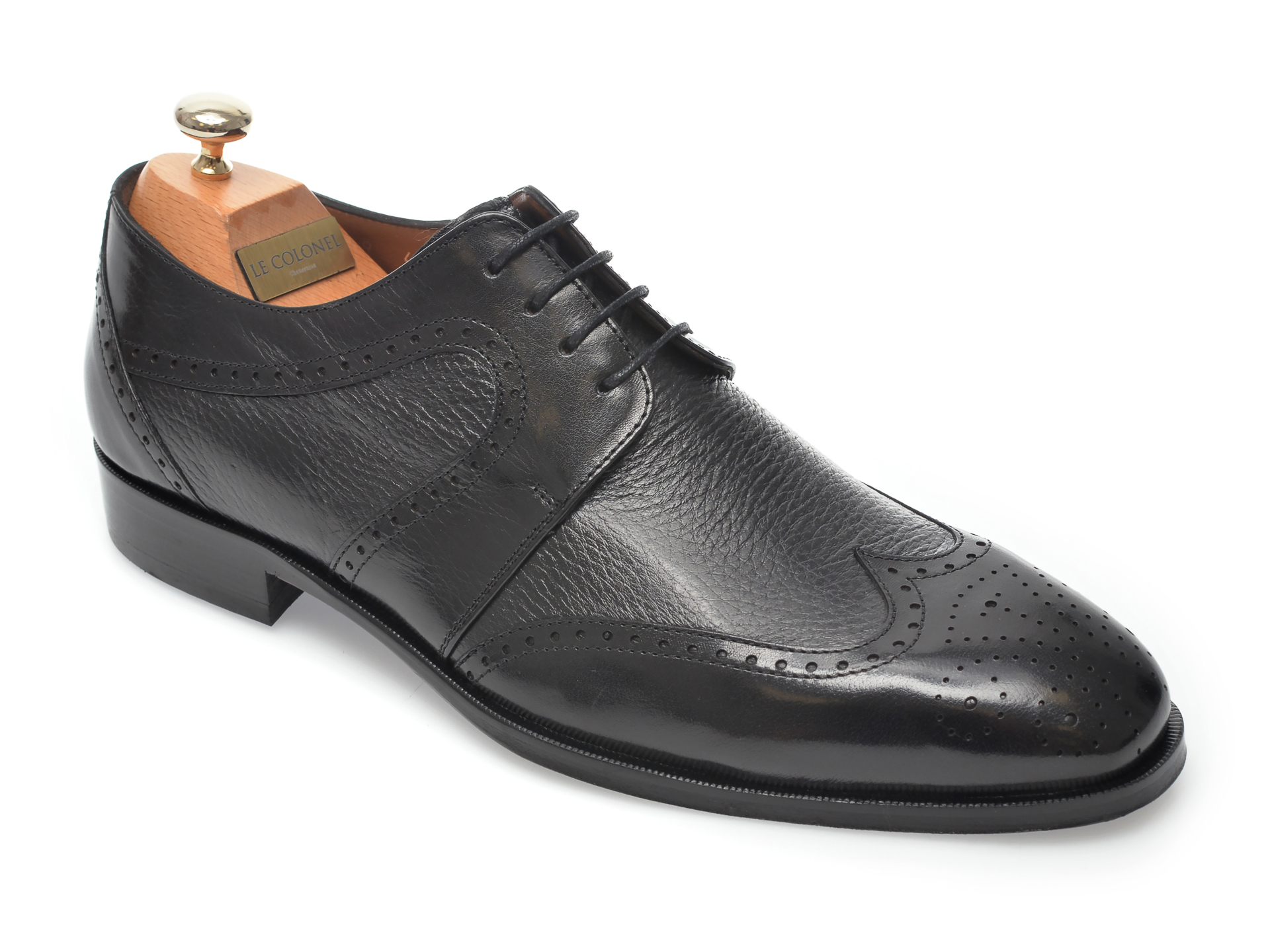 Pantofi LE COLONEL negri, 48459, din piele naturala imagine