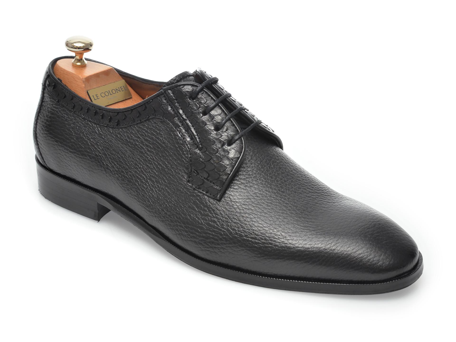 Pantofi LE COLONEL negri, 48711, din piele naturala imagine otter.ro 2021