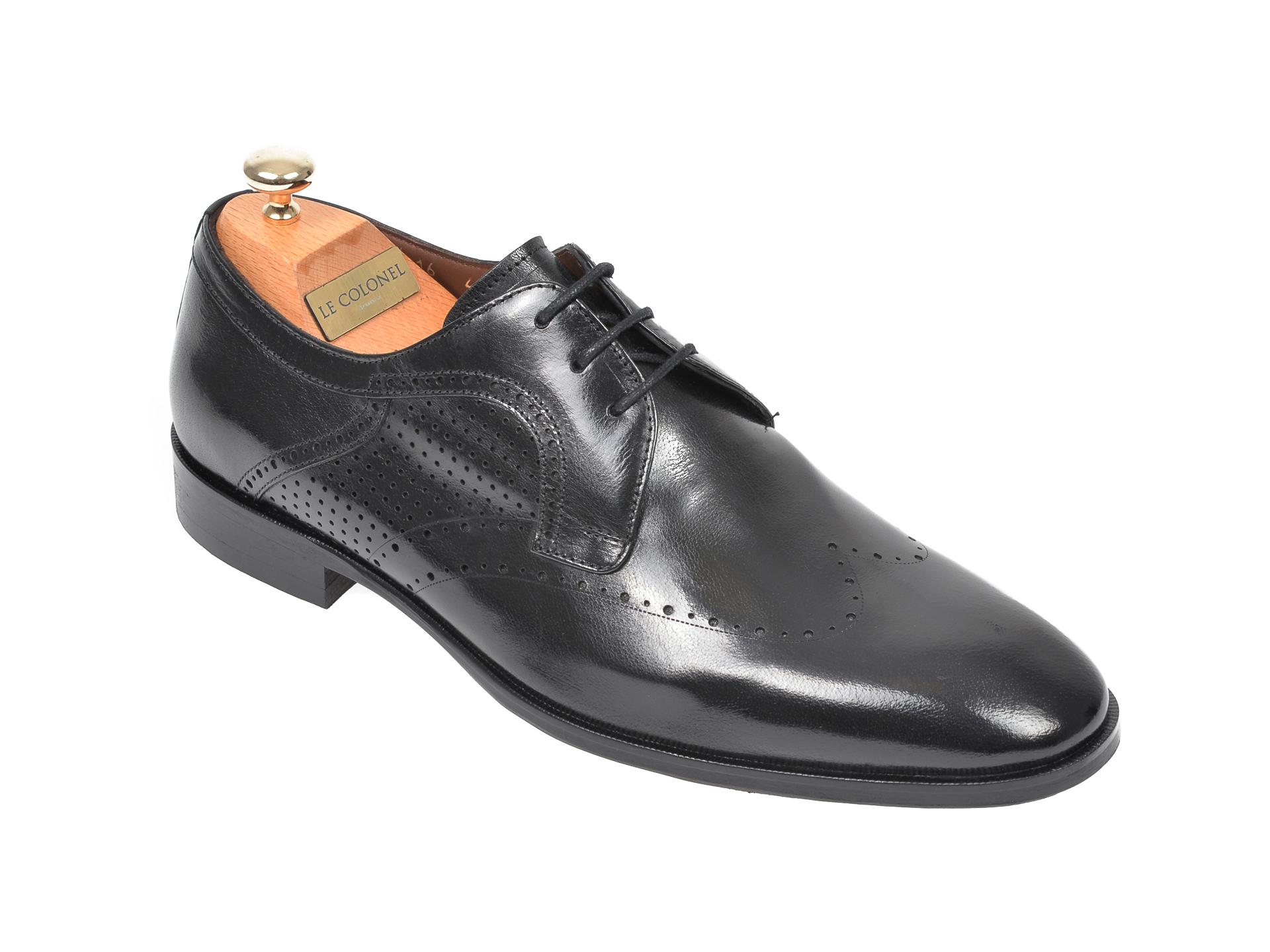 Pantofi LE COLONEL negri, 48716, din piele naturala imagine