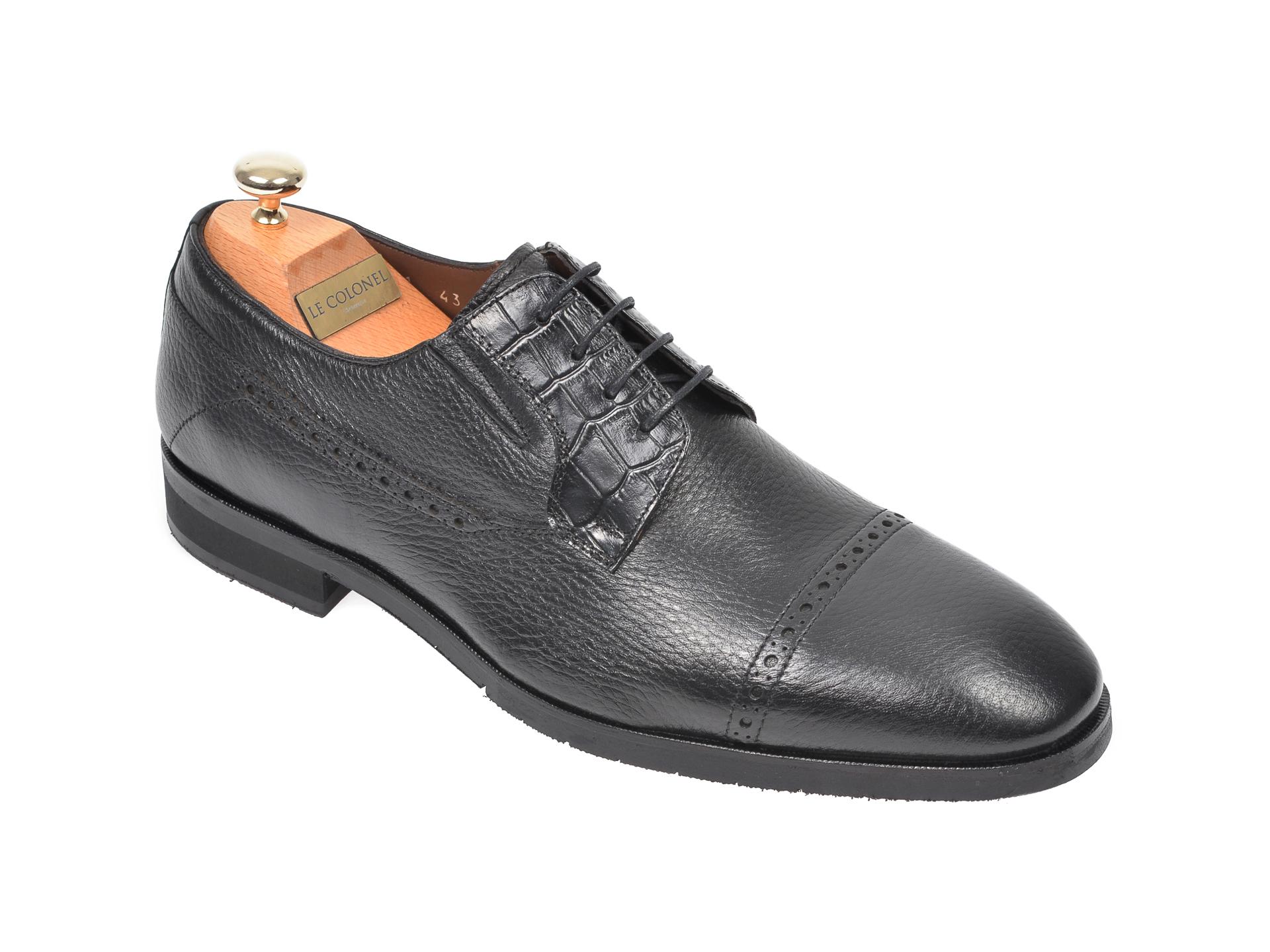Pantofi LE COLONEL negri, 48731, din piele naturala imagine