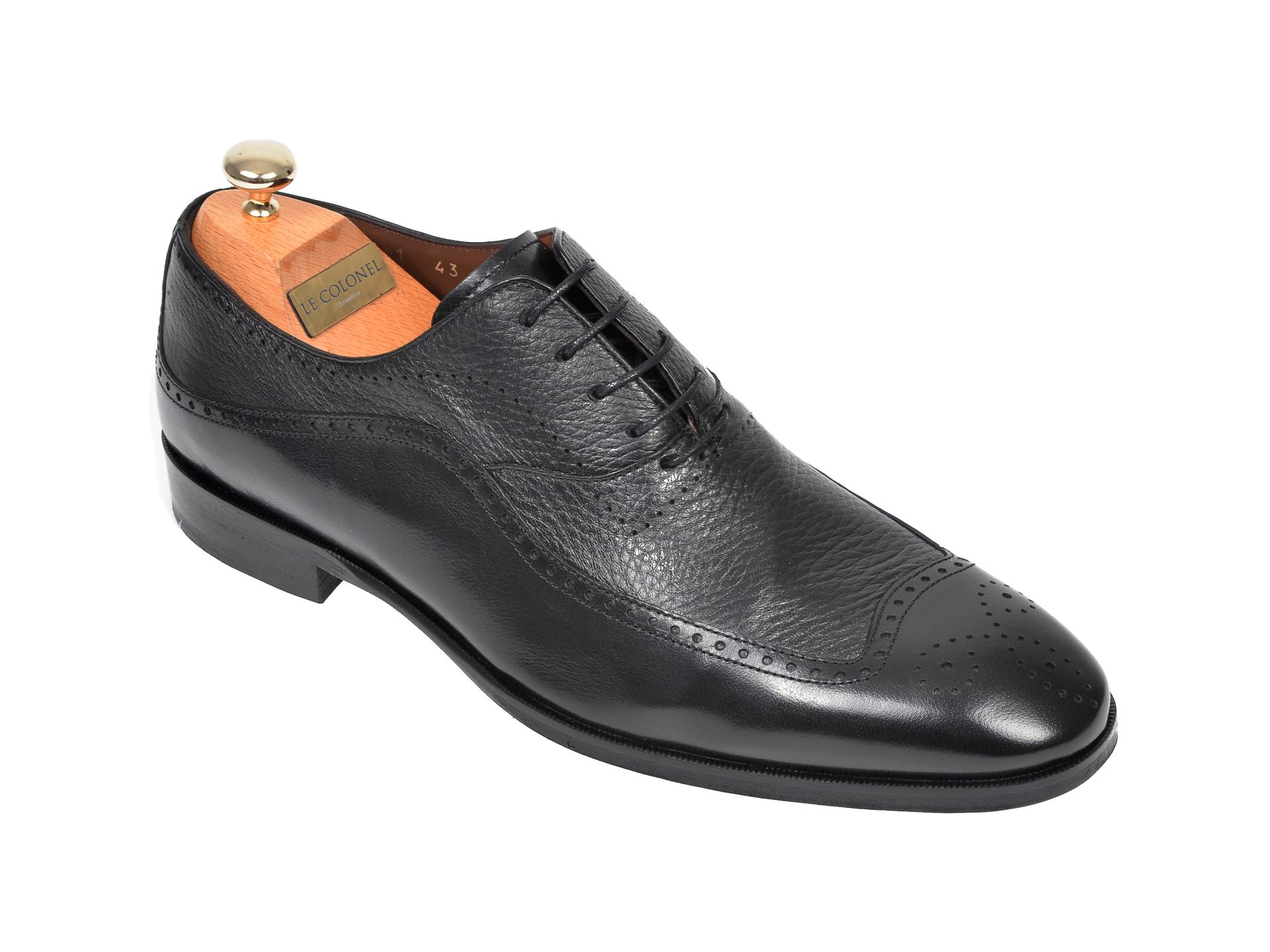 Pantofi LE COLONEL negri, 48741, din piele naturala imagine