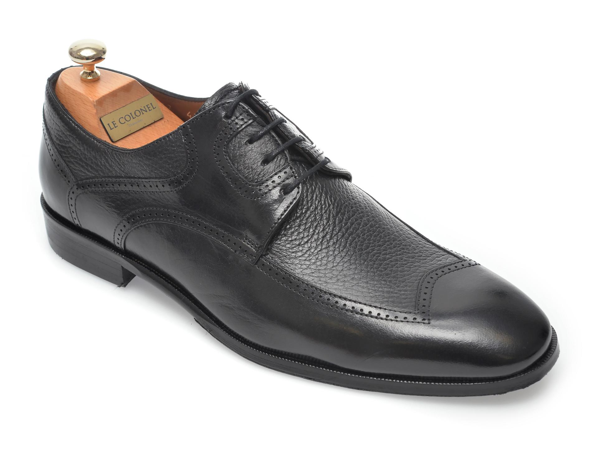 Pantofi LE COLONEL negri, 48757, din piele naturala imagine otter.ro 2021