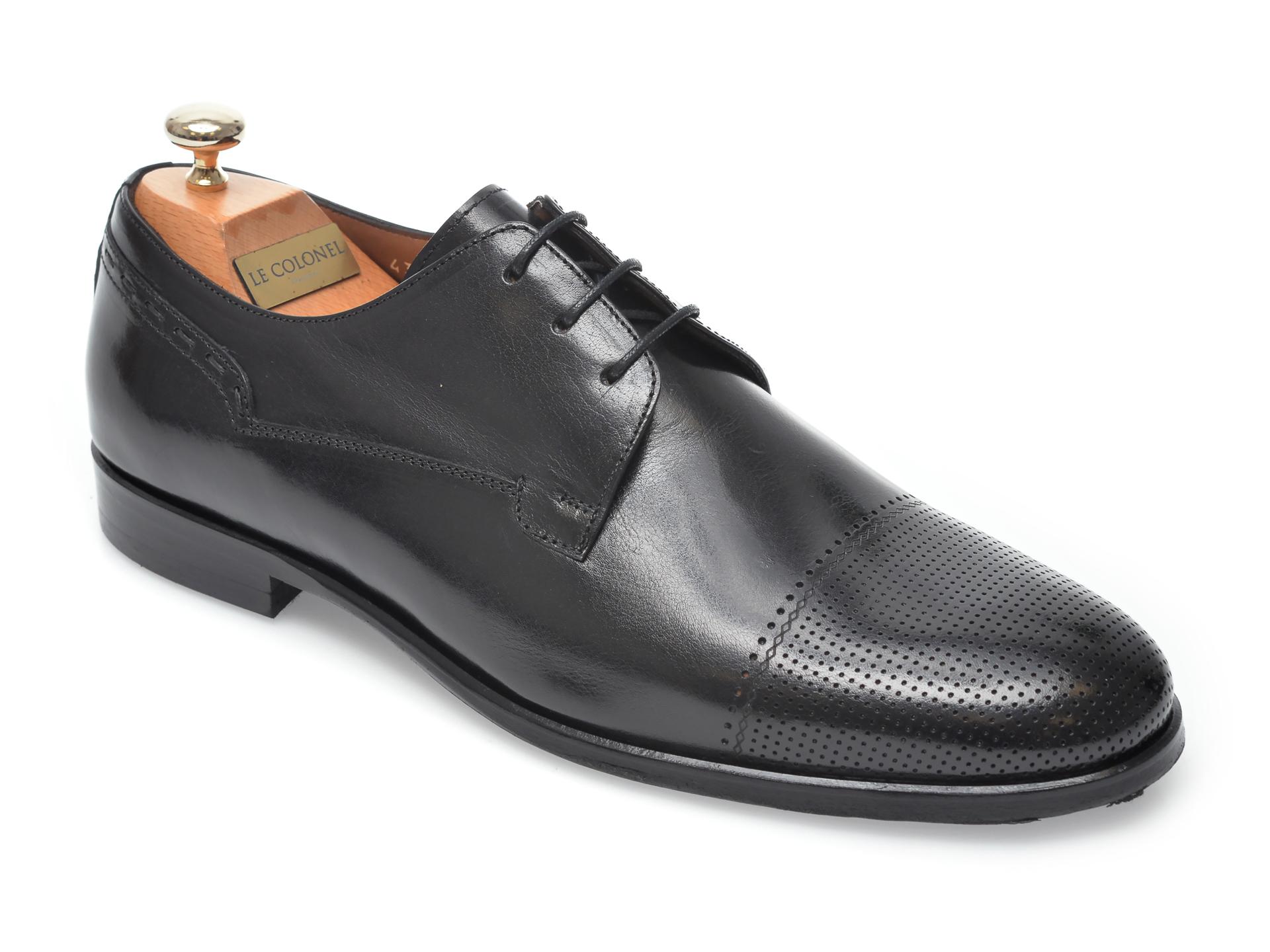 Pantofi LE COLONEL negri, 60517, din piele naturala imagine otter.ro 2021
