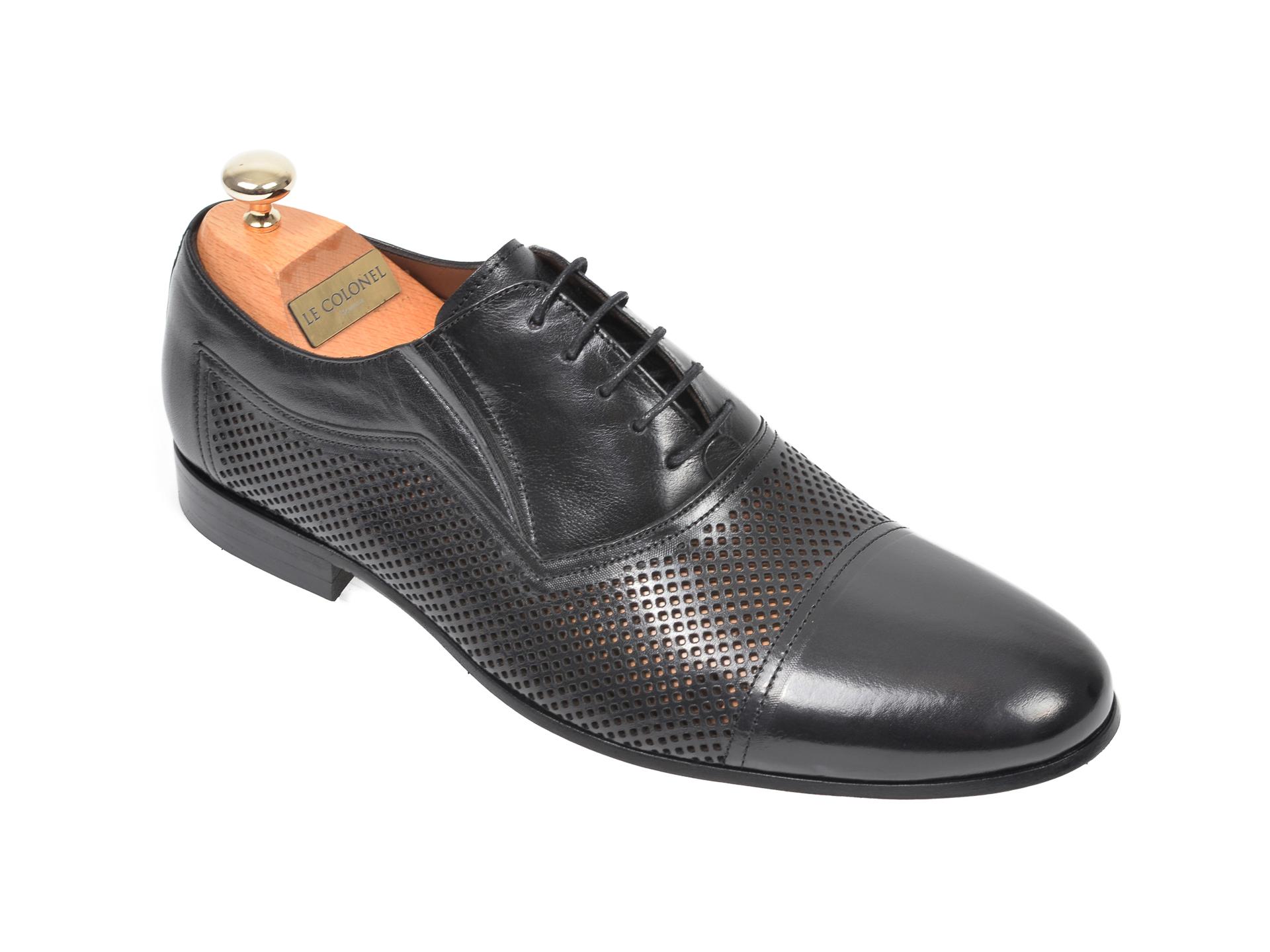 Pantofi LE COLONEL negri, 61022, din piele naturala imagine