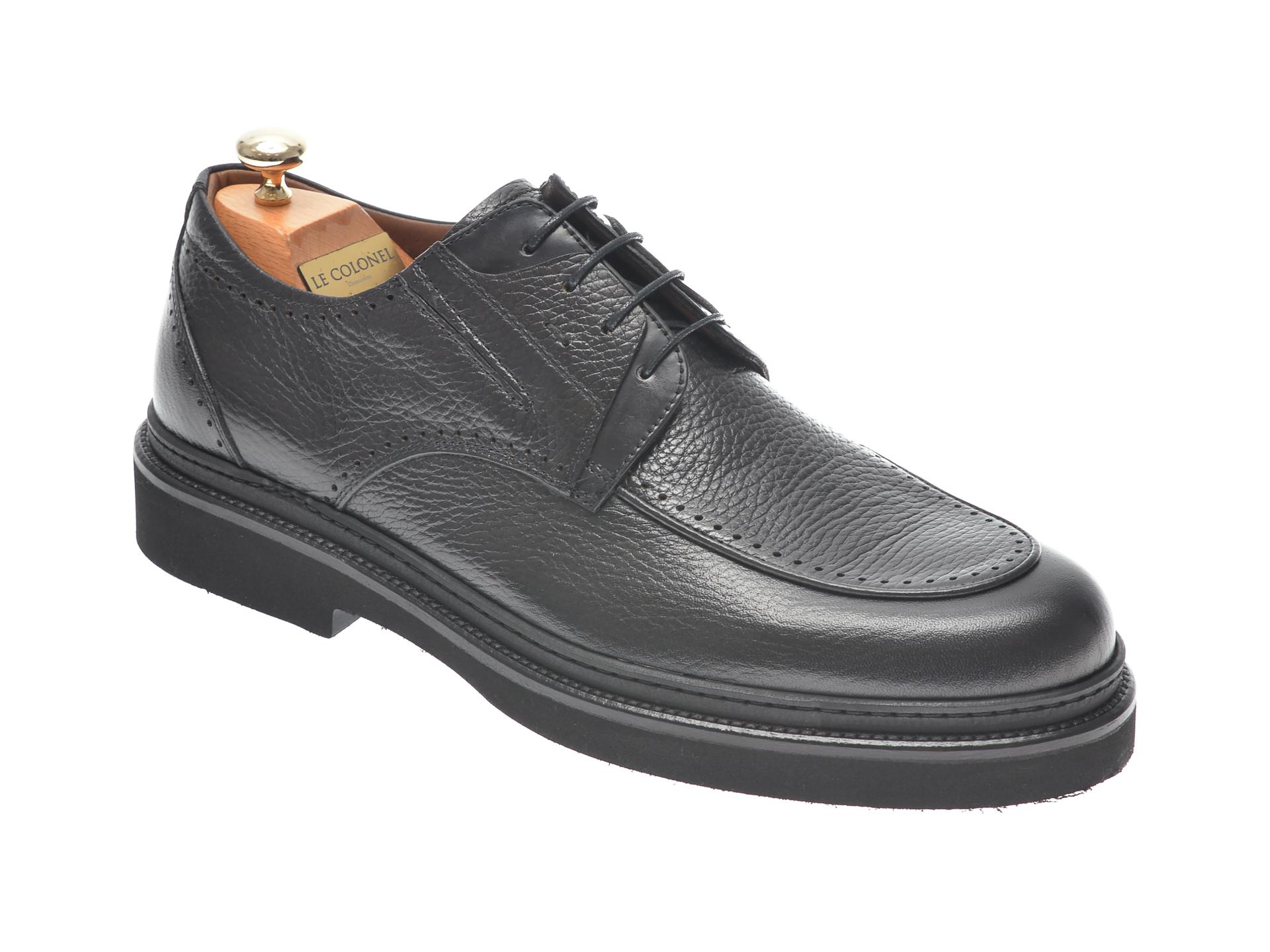 Pantofi LE COLONEL negri, 61603, din piele naturala imagine
