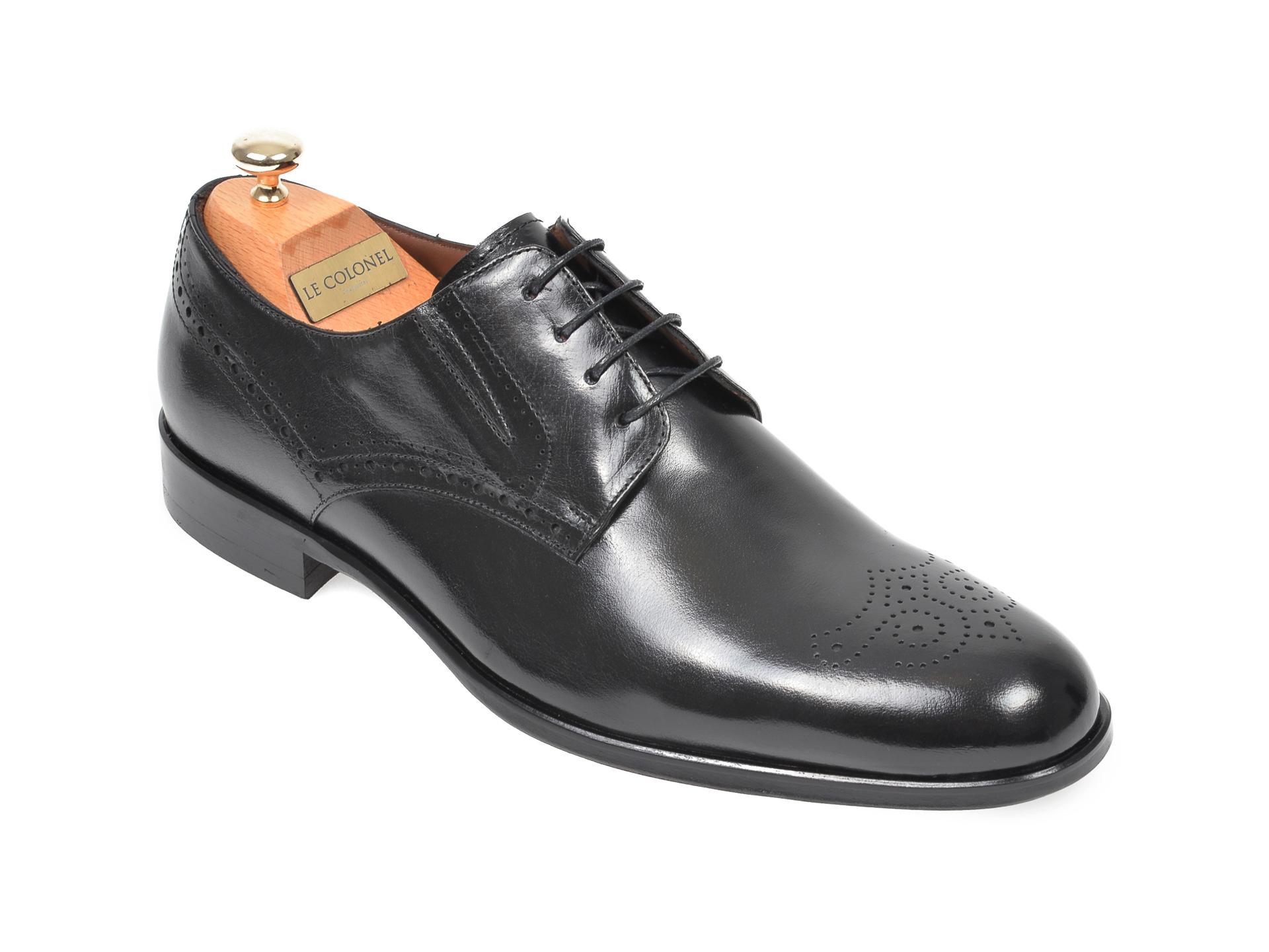 Pantofi LE COLONEL negri, 62401, din piele naturala imagine