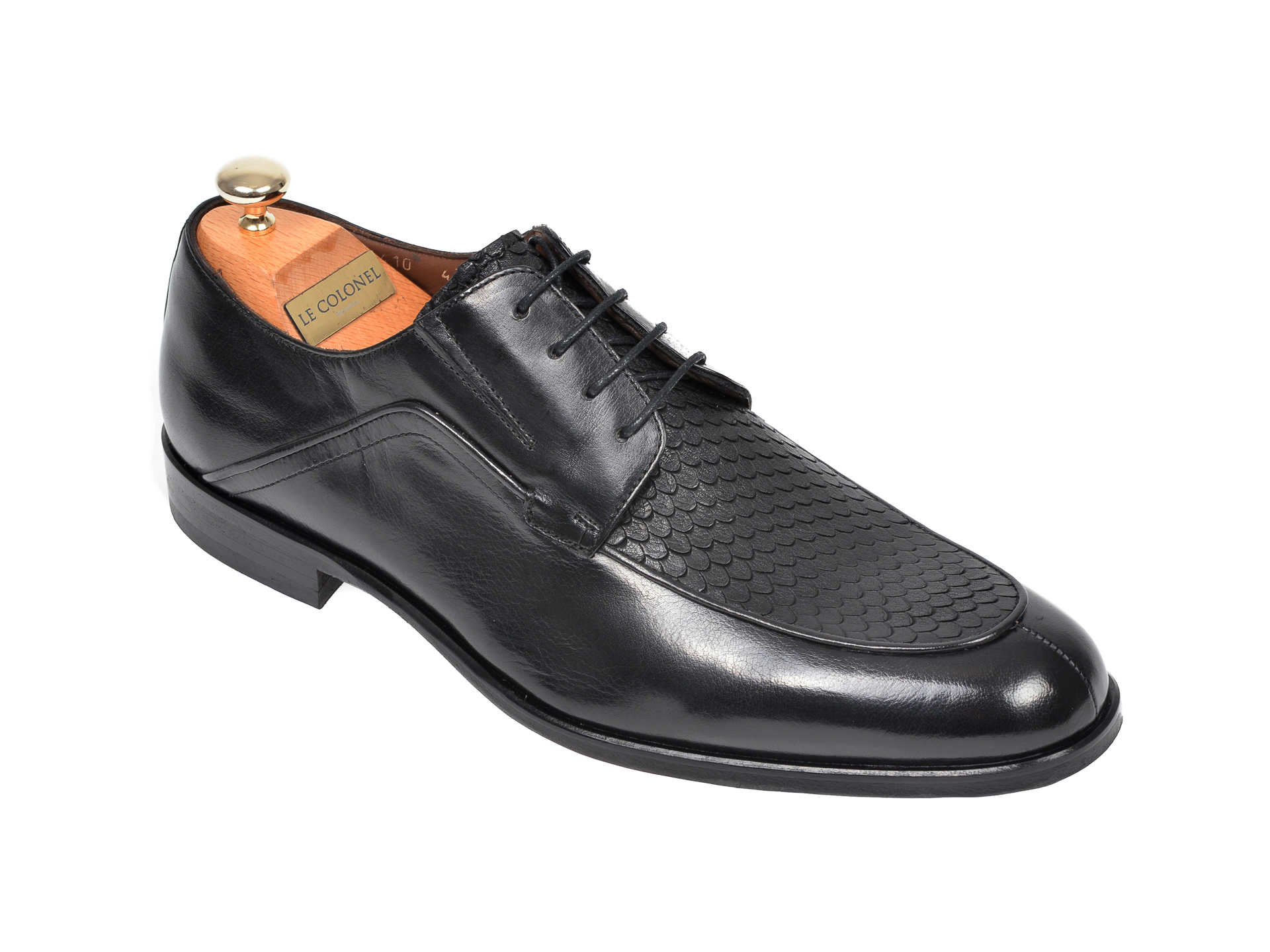 Pantofi LE COLONEL negri, 62410, din piele naturala imagine
