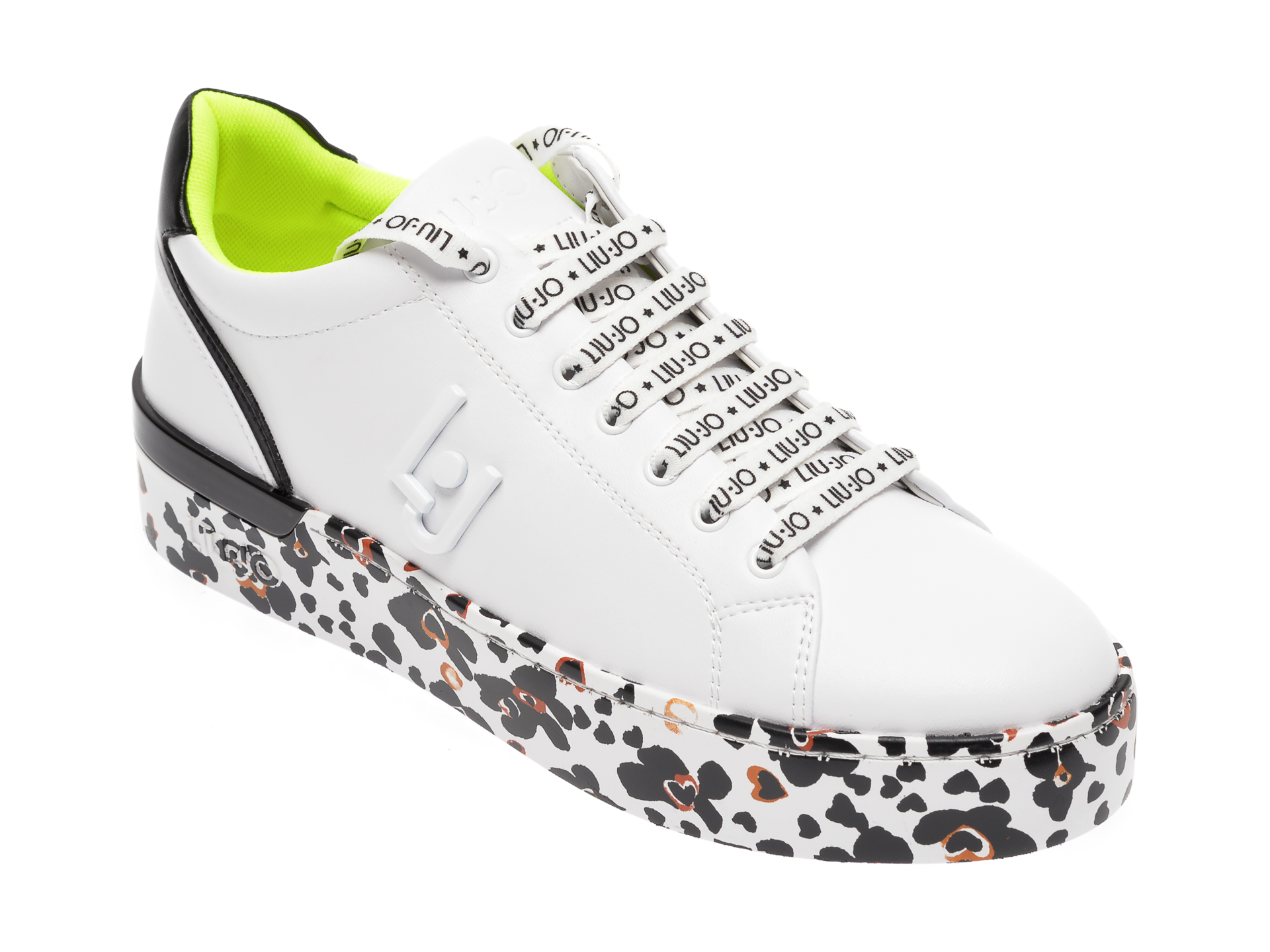 Pantofi LIU JO alb-negru, SILV01, din piele ecologica