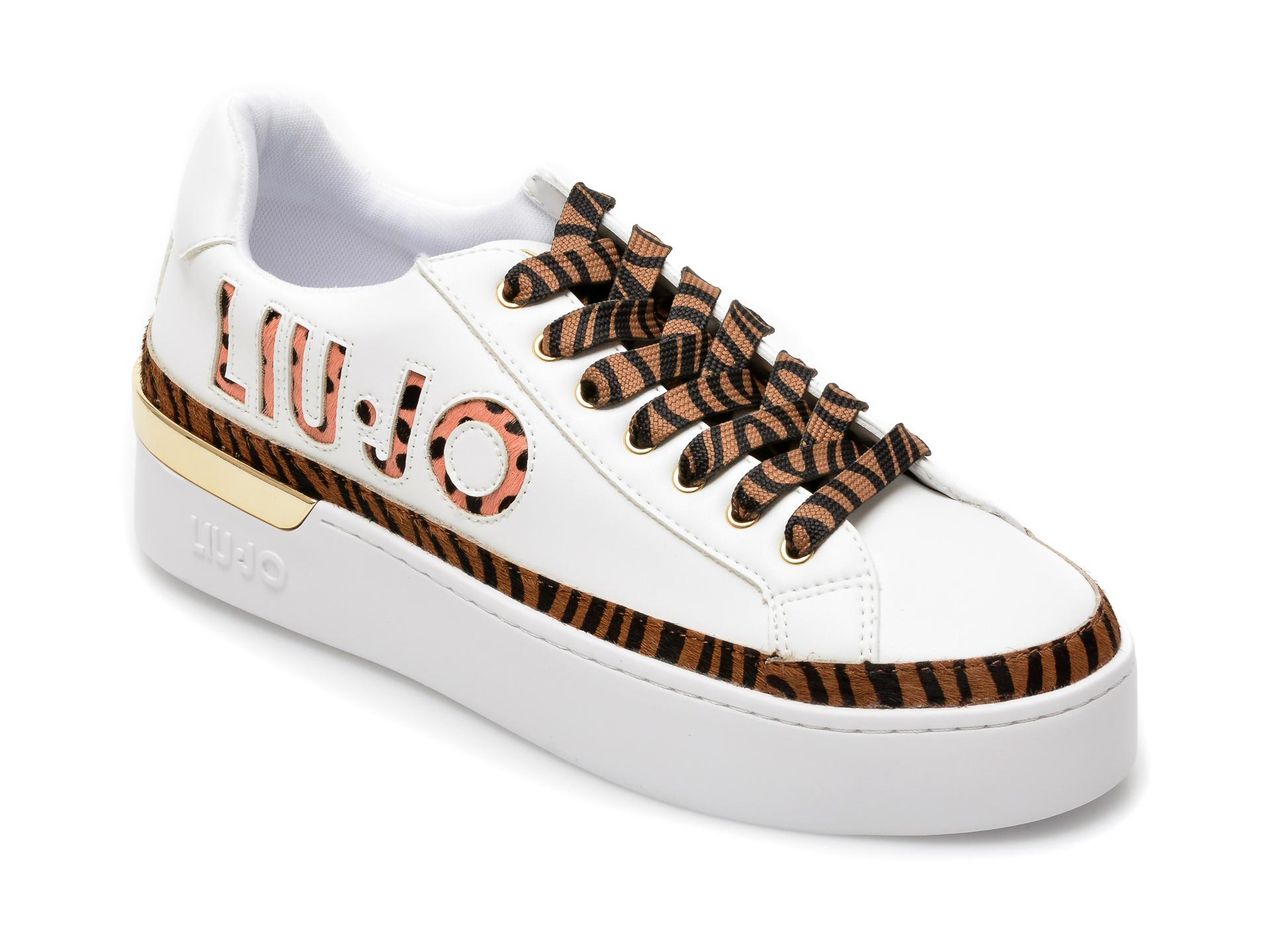 Pantofi LIU JO albi, Silvia 22, din piele ecologica