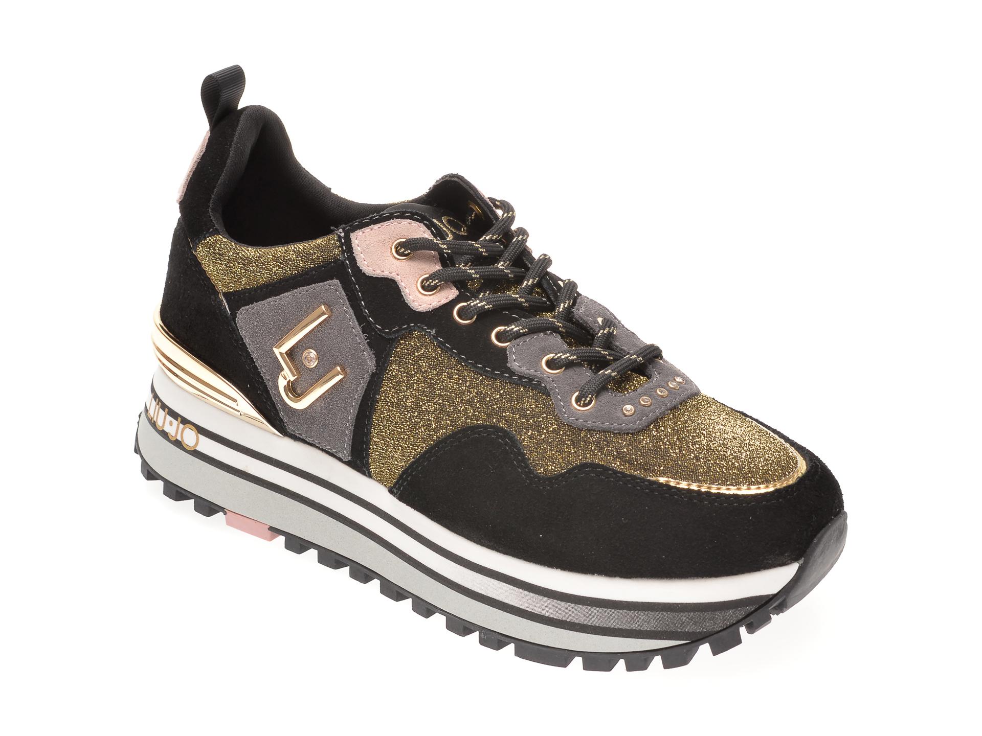 Pantofi sport LIU JO negri, YULIA01, din material textil