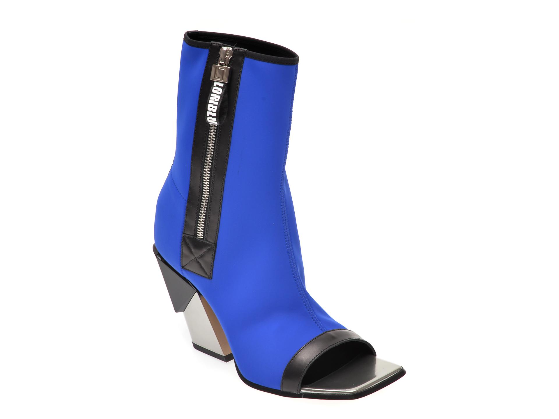 Pantofi LORIBLU albastri, 9627, din material textil