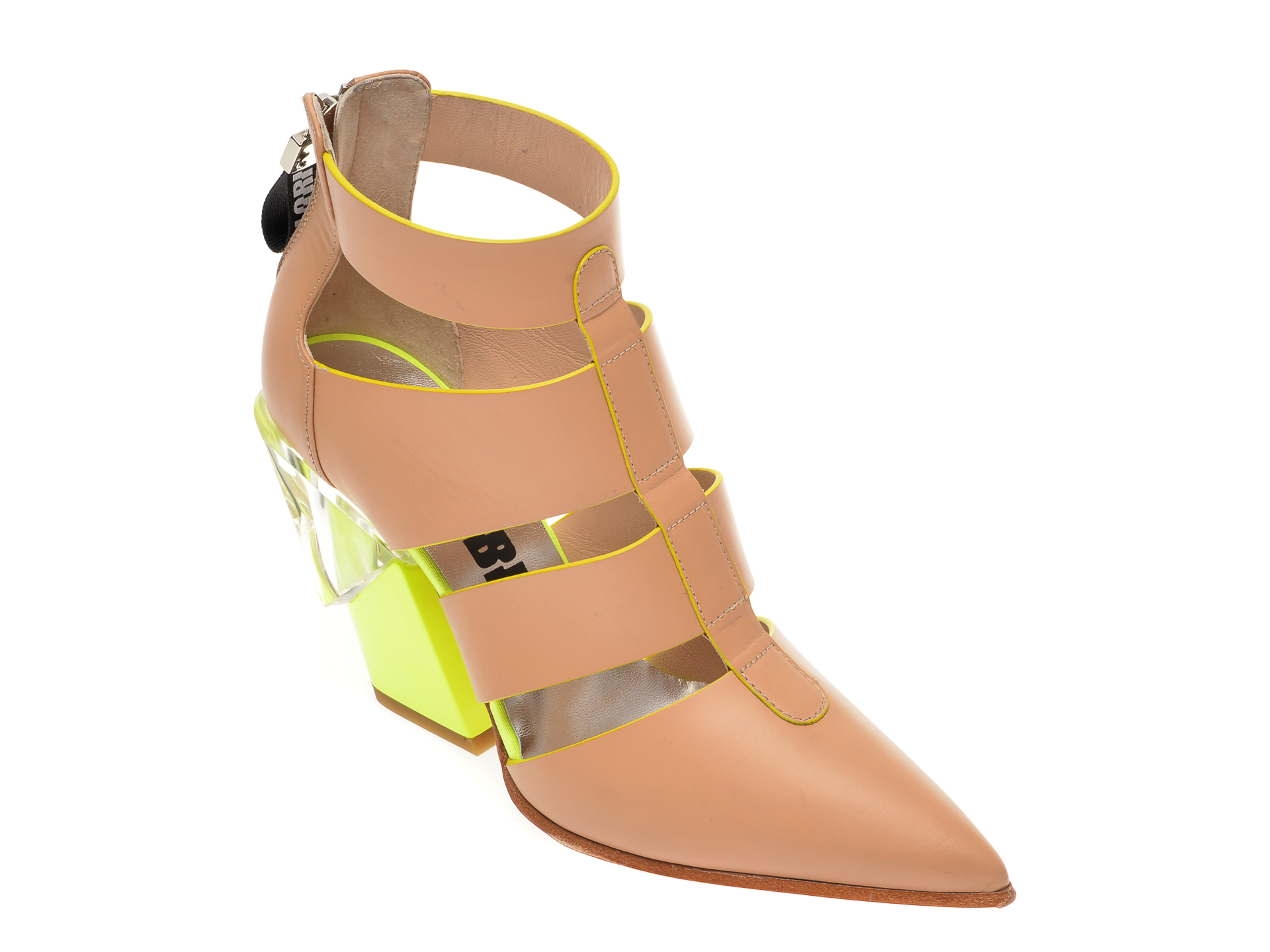 Pantofi LORIBLU nude, T615, din piele naturala New