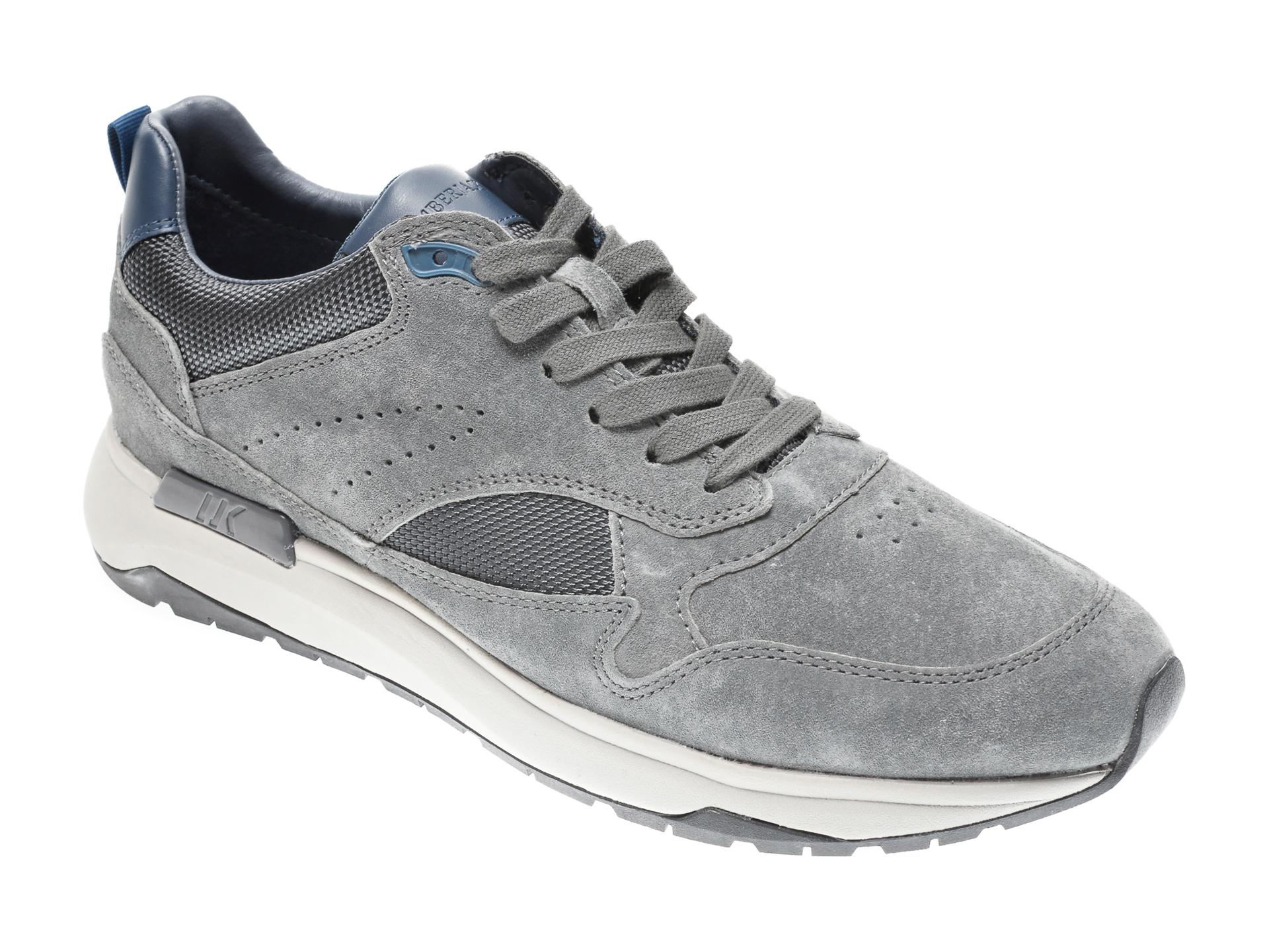 Pantofi LUMBERJACK gri, 405006, din piele intoarsa