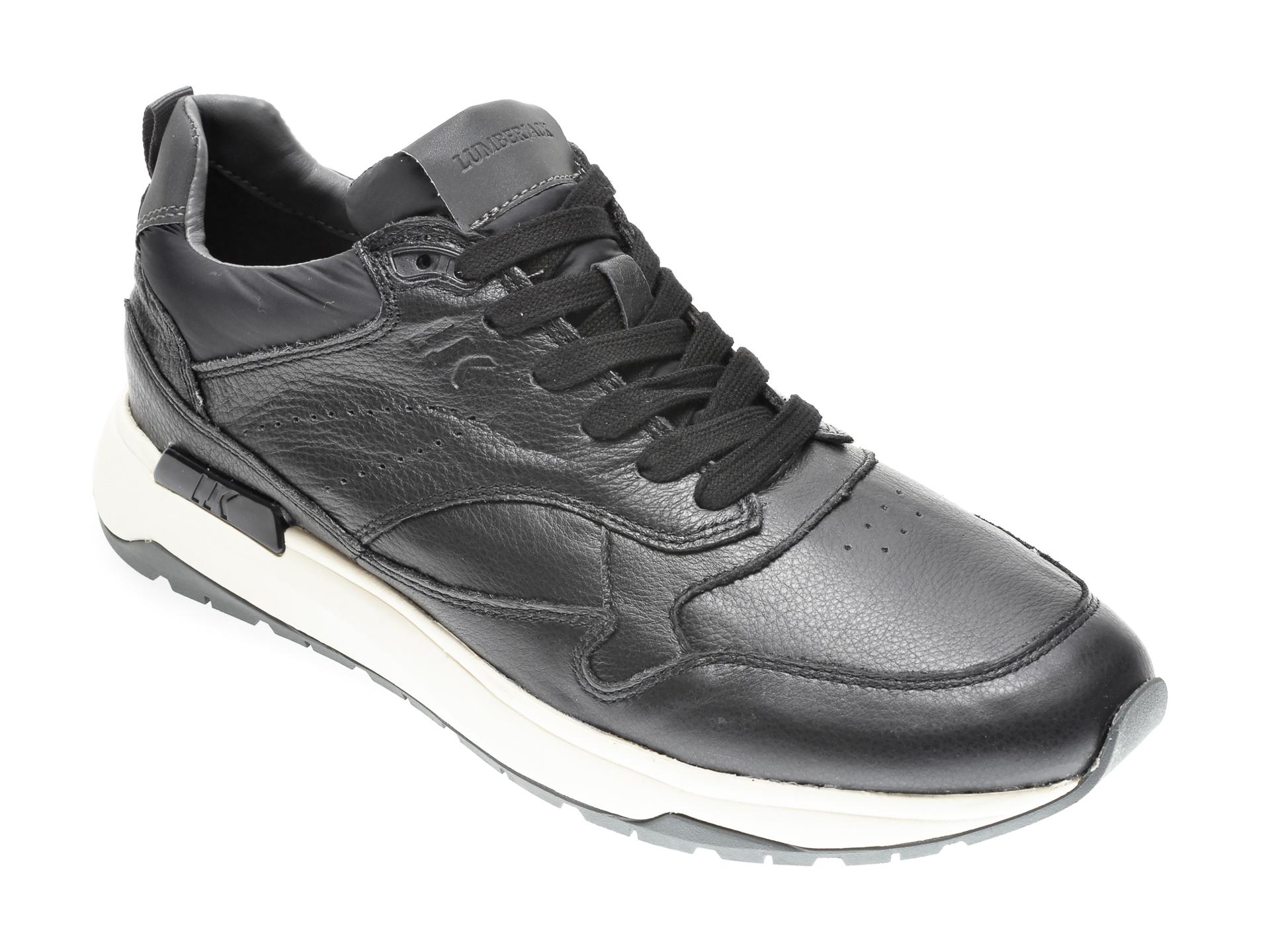 Pantofi LUMBERJACK negri, 405006, din piele naturala imagine