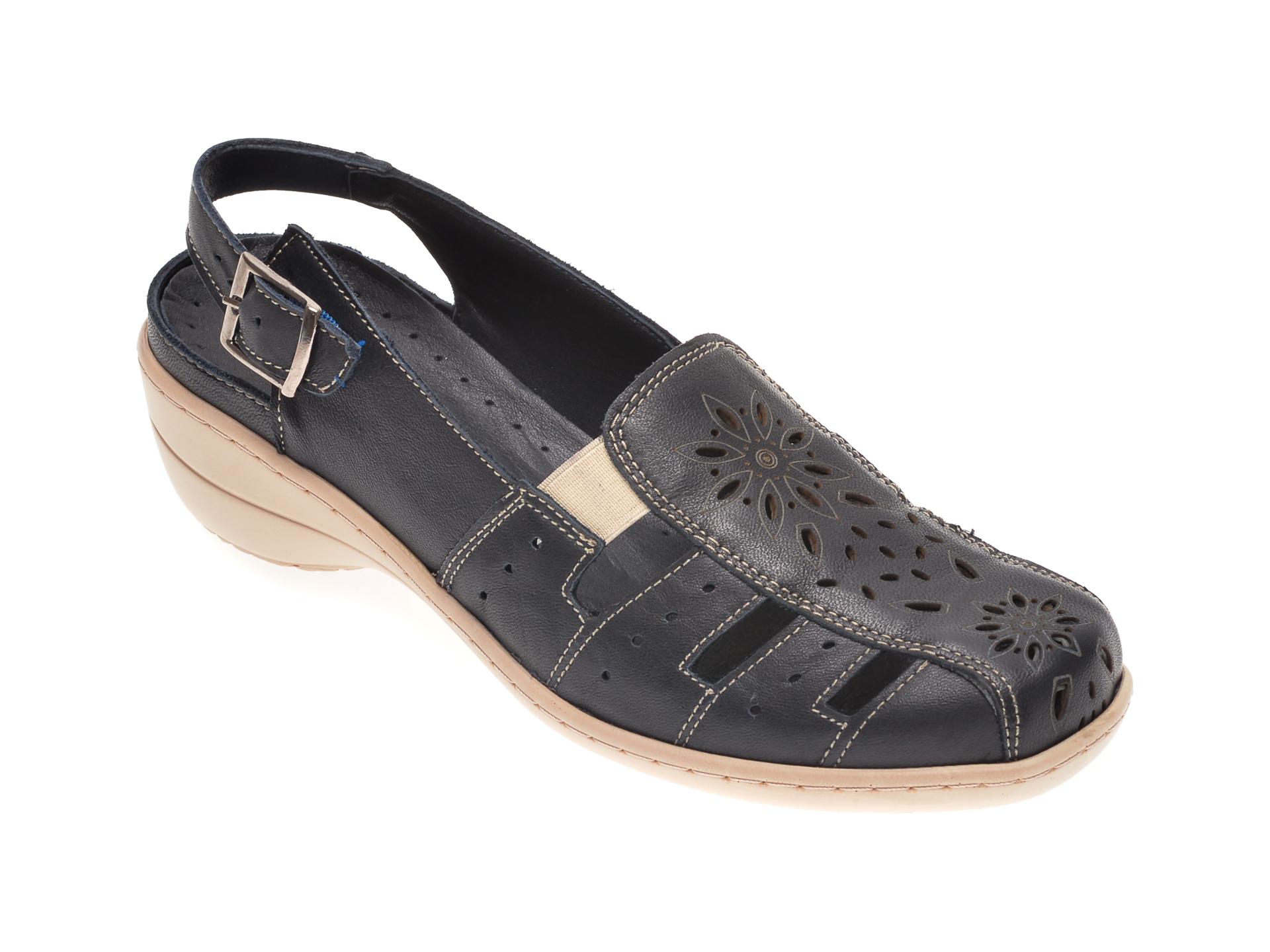 Pantofi LUMEL albastri, 202, din piele naturala