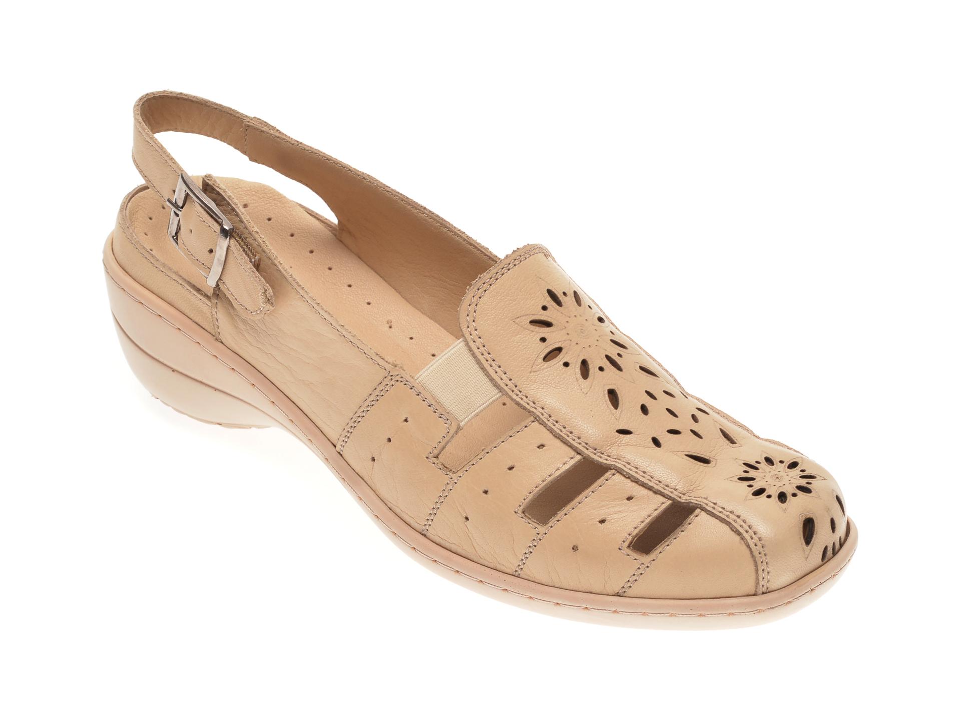 Pantofi LUMEL bej, 202, din piele naturala