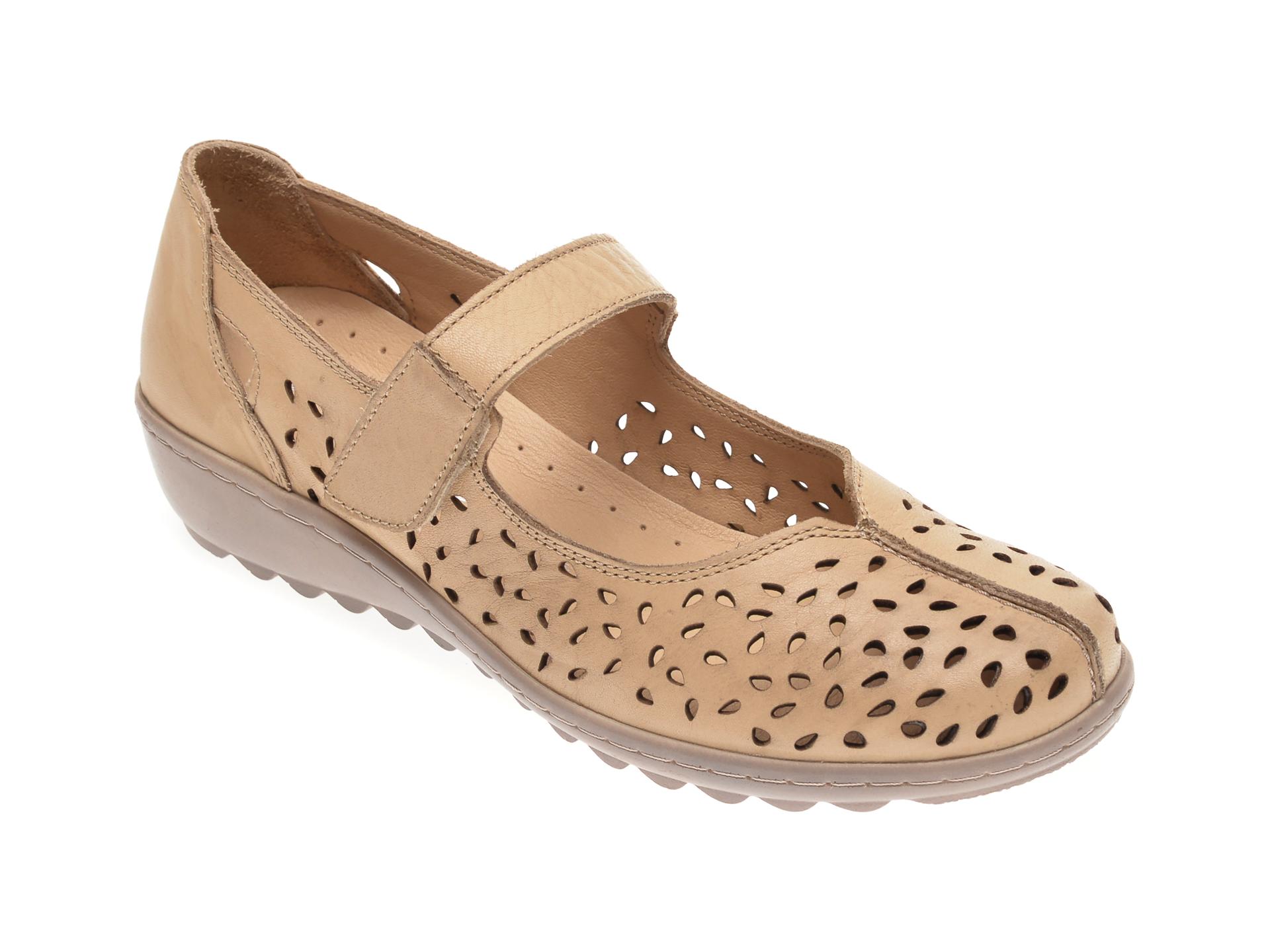 Pantofi LUMEL bej, 203, din piele naturala imagine