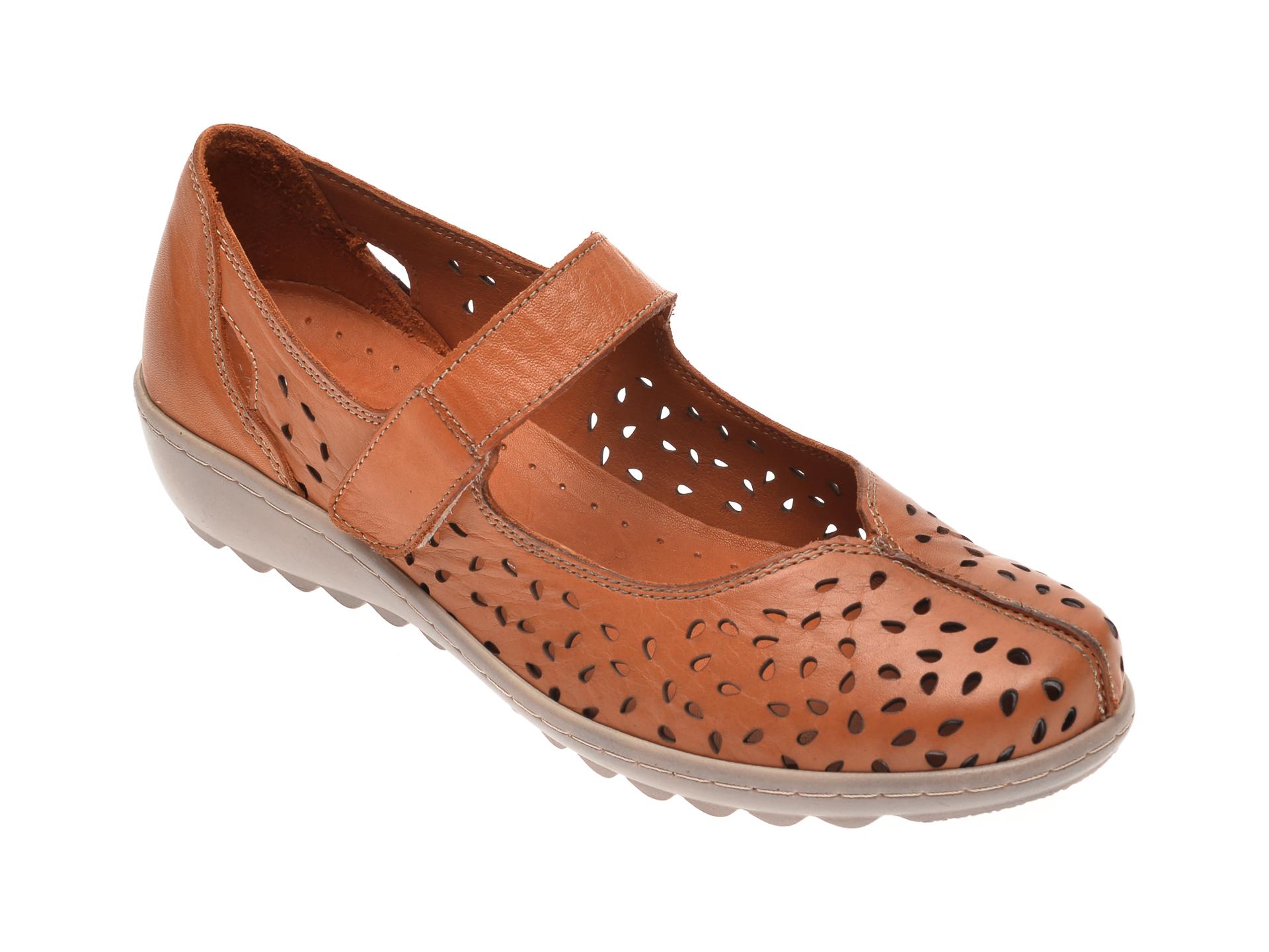 Pantofi LUMEL maro, 203, din piele naturala