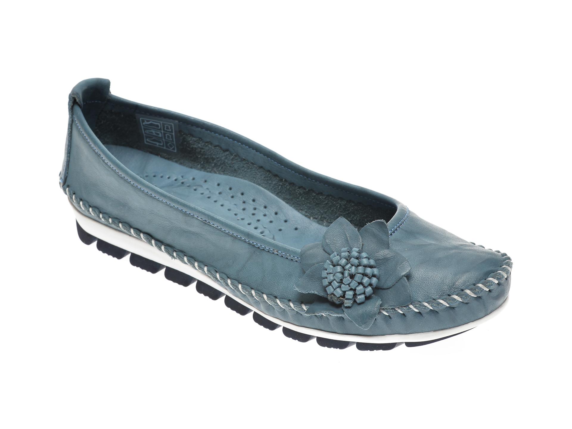 Pantofi MANLISA albastri, 127, din piele naturala