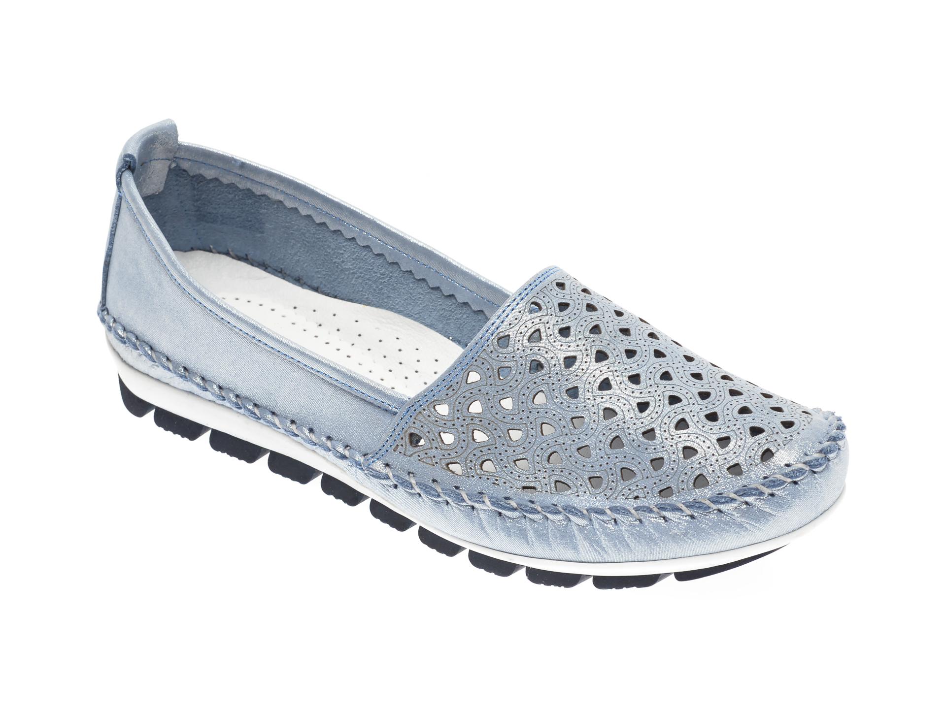 Pantofi MANLISA albastri, 128, din piele naturala