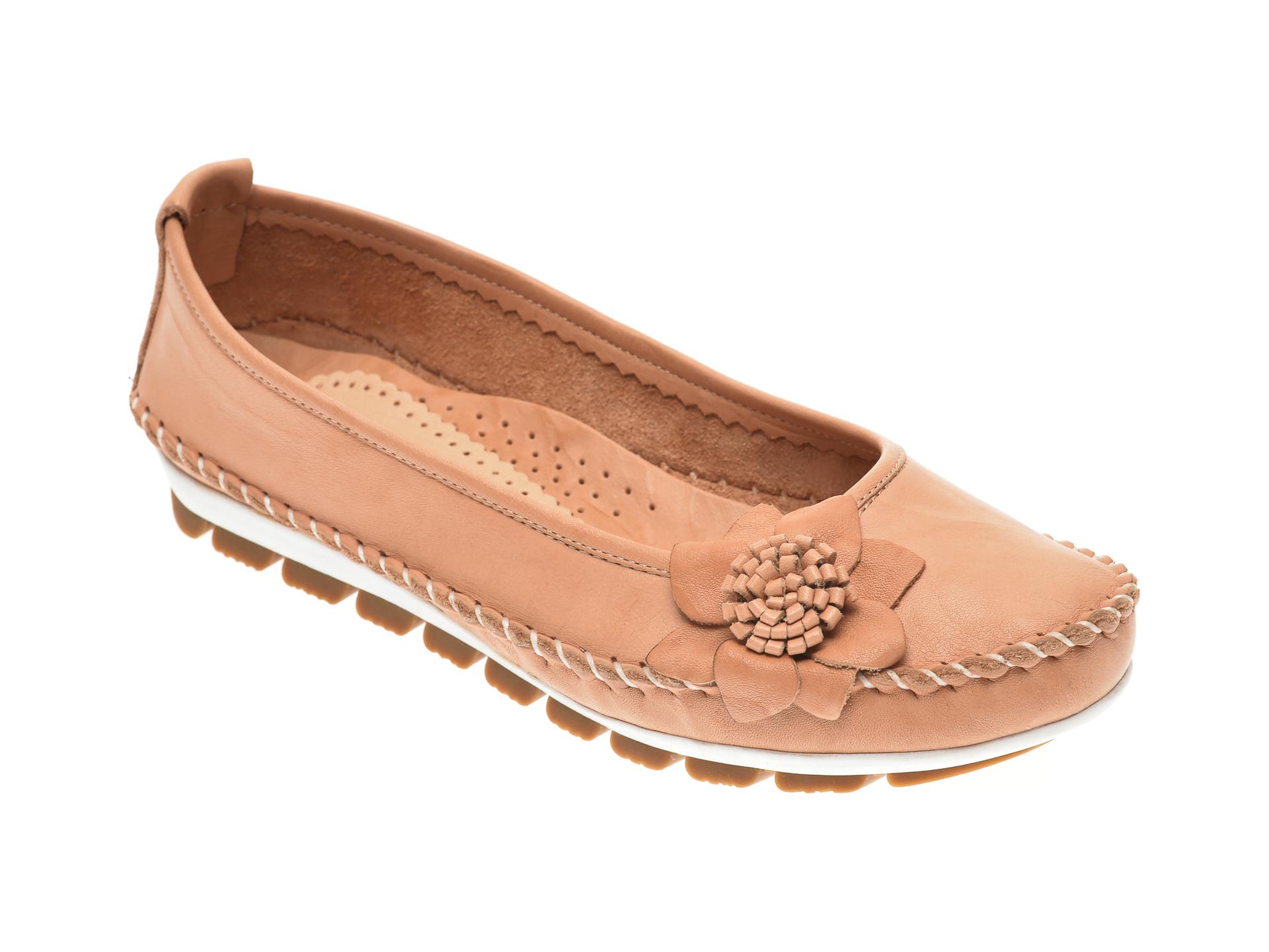 Pantofi MANLISA bej, 127, din piele naturala