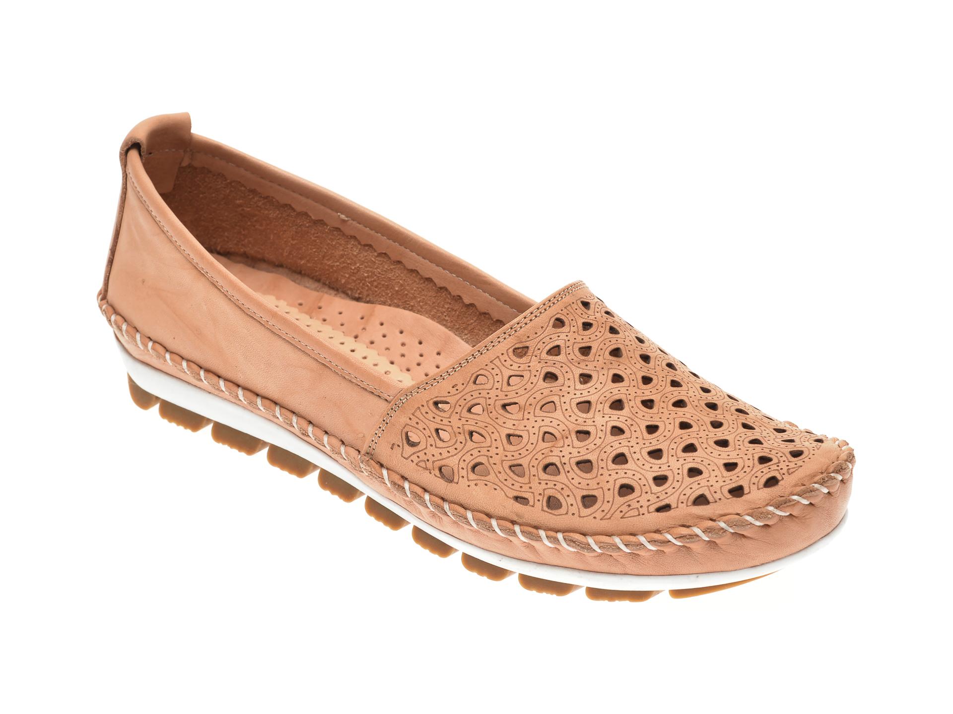 Pantofi MANLISA bej, 128, din piele naturala