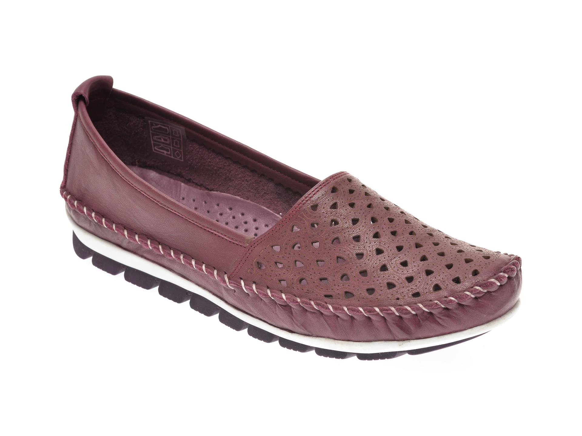 Pantofi MANLISA mov, 128, din piele naturala