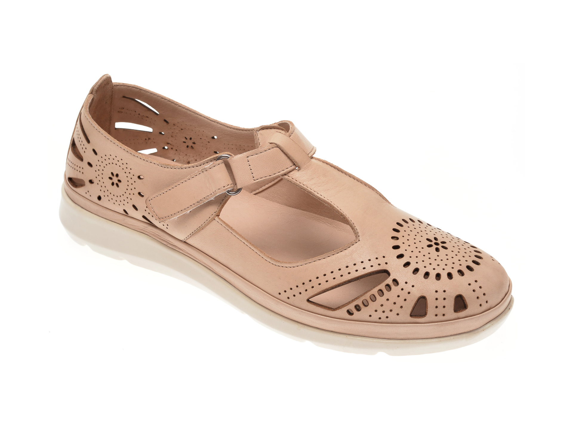 Pantofi MARCHA bej, 602, din piele naturala imagine