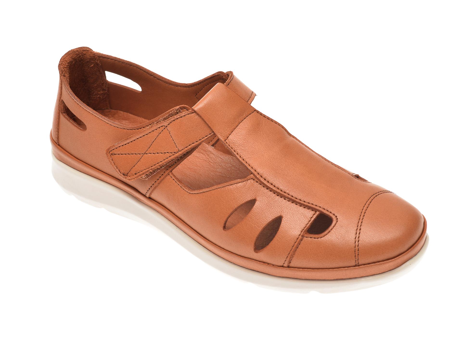 Pantofi MARCHA maro, 605, din piele naturala